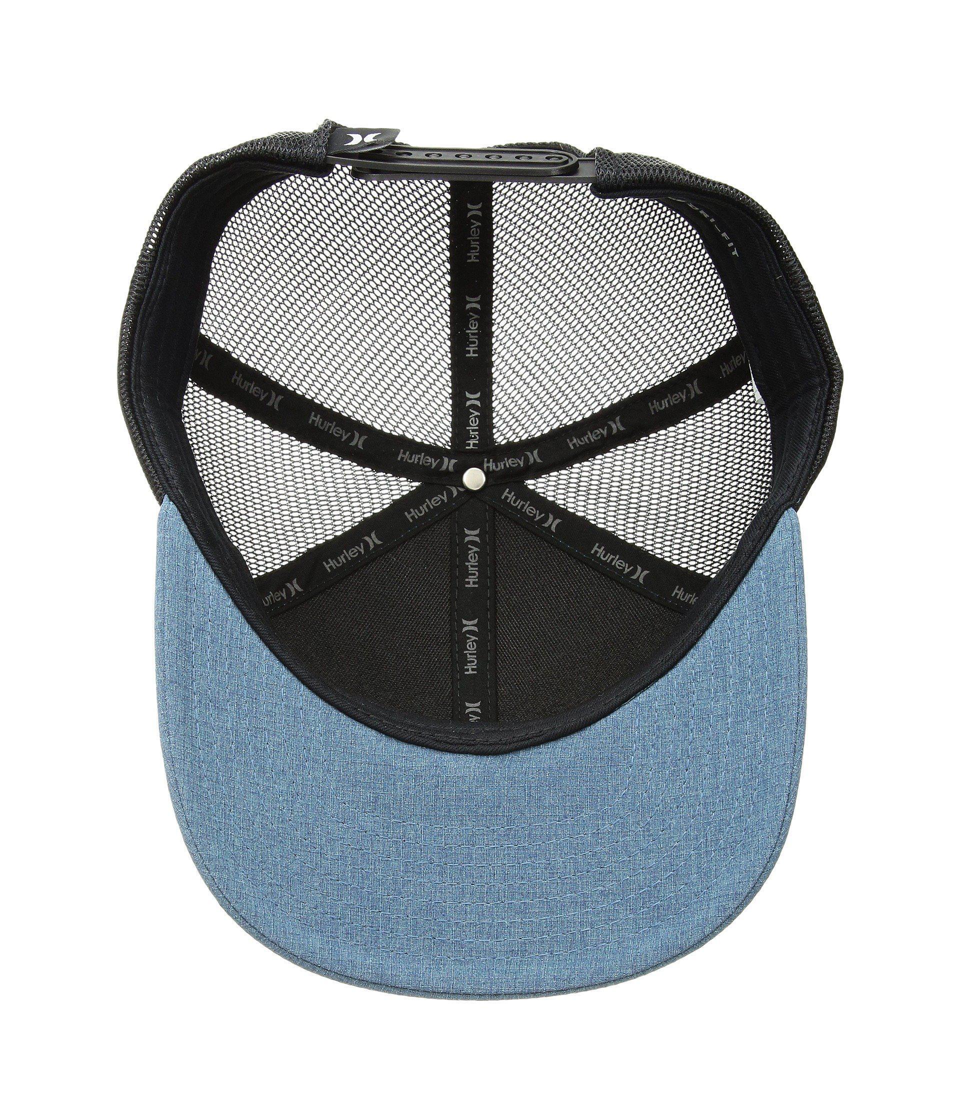 88d0b9f683aae ... get lyst hurley swell trucker hat black caps for men f30cd 46298