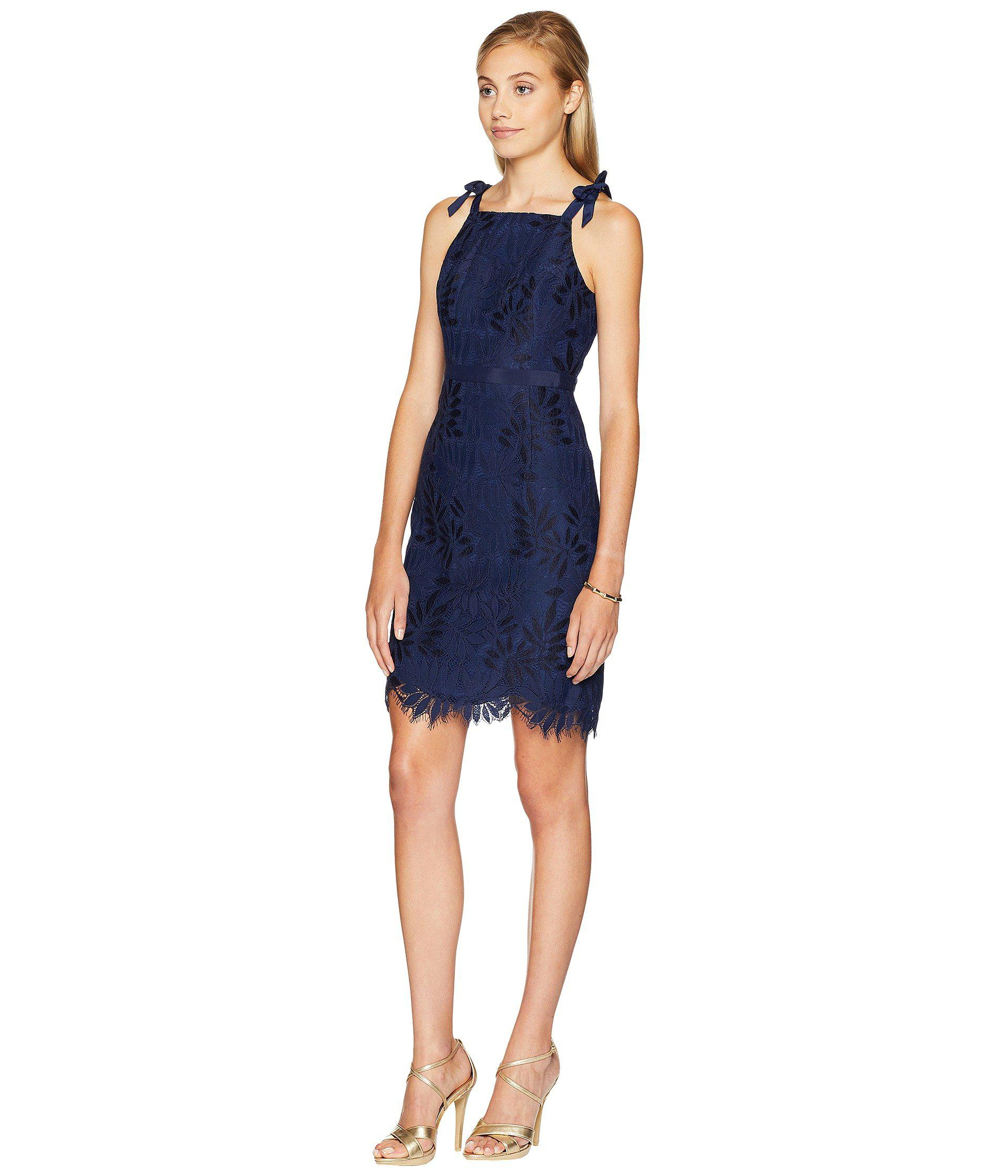 e327c5824b836e Lilly Pulitzer Kayleigh Shift Dress (tidal Wave Fern Gallery Lace ...