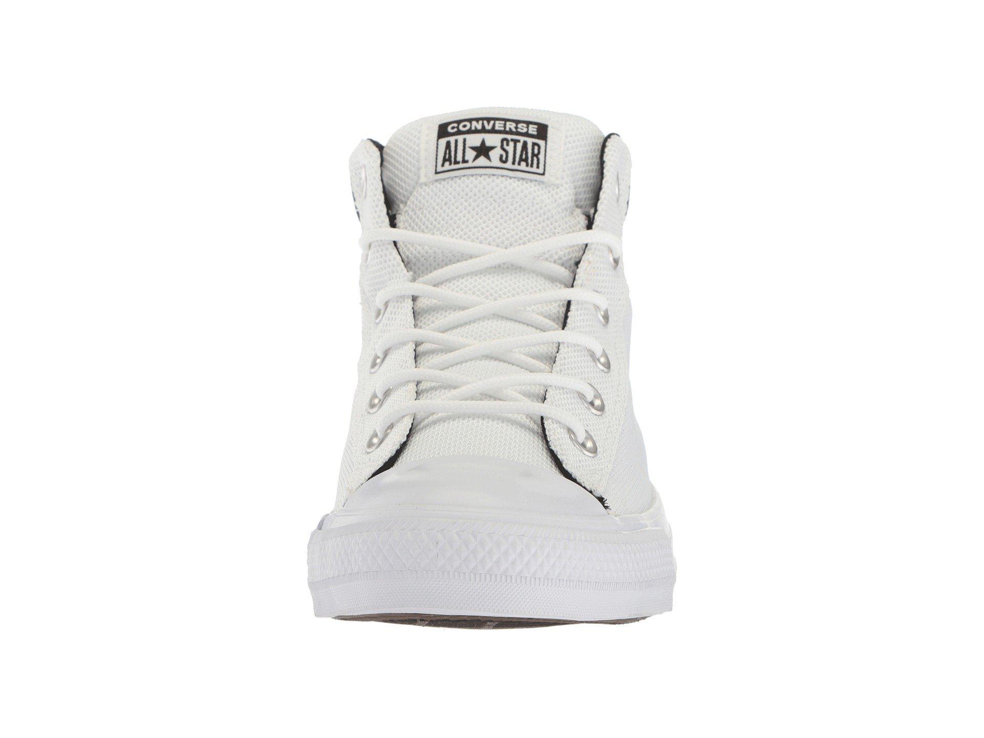 Lyst - Converse Chuck Taylor All Star Street Mid (white black white ... 6b3e891d8