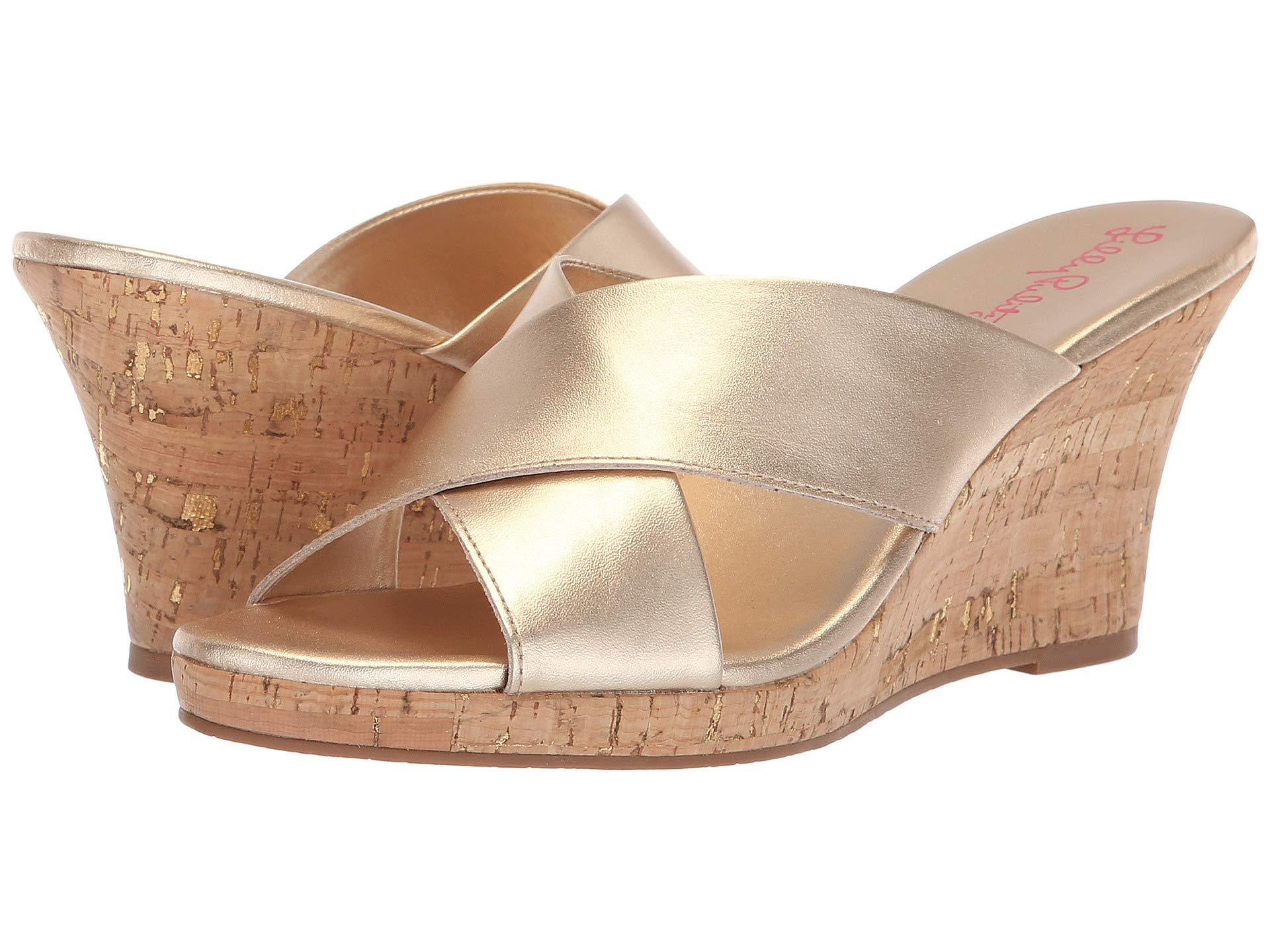 283b69558af285 Lyst - Lilly Pulitzer Selena Slide (gold Metallic) Women s Slide ...