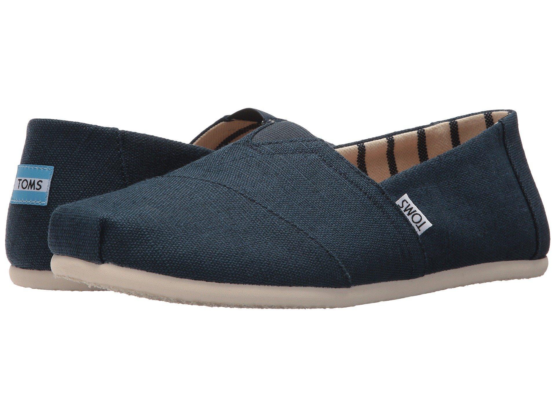 9ac1674975e TOMS - Blue Venice Collection Alpargata (unbleached Heritage Canvas) Men s  Slip On Shoes for. View fullscreen
