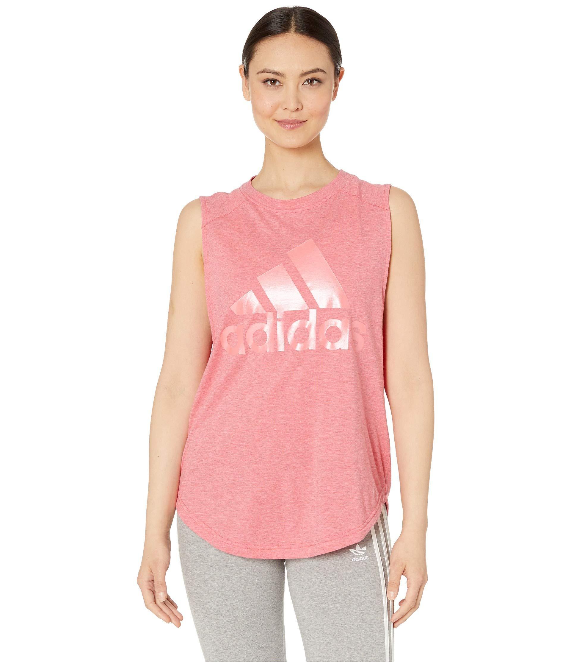 36e8a49ae39f14 Adidas - Pink Winners Id Muscle Tank (ash Grey legend Ink) Women s  Sleeveless. View fullscreen