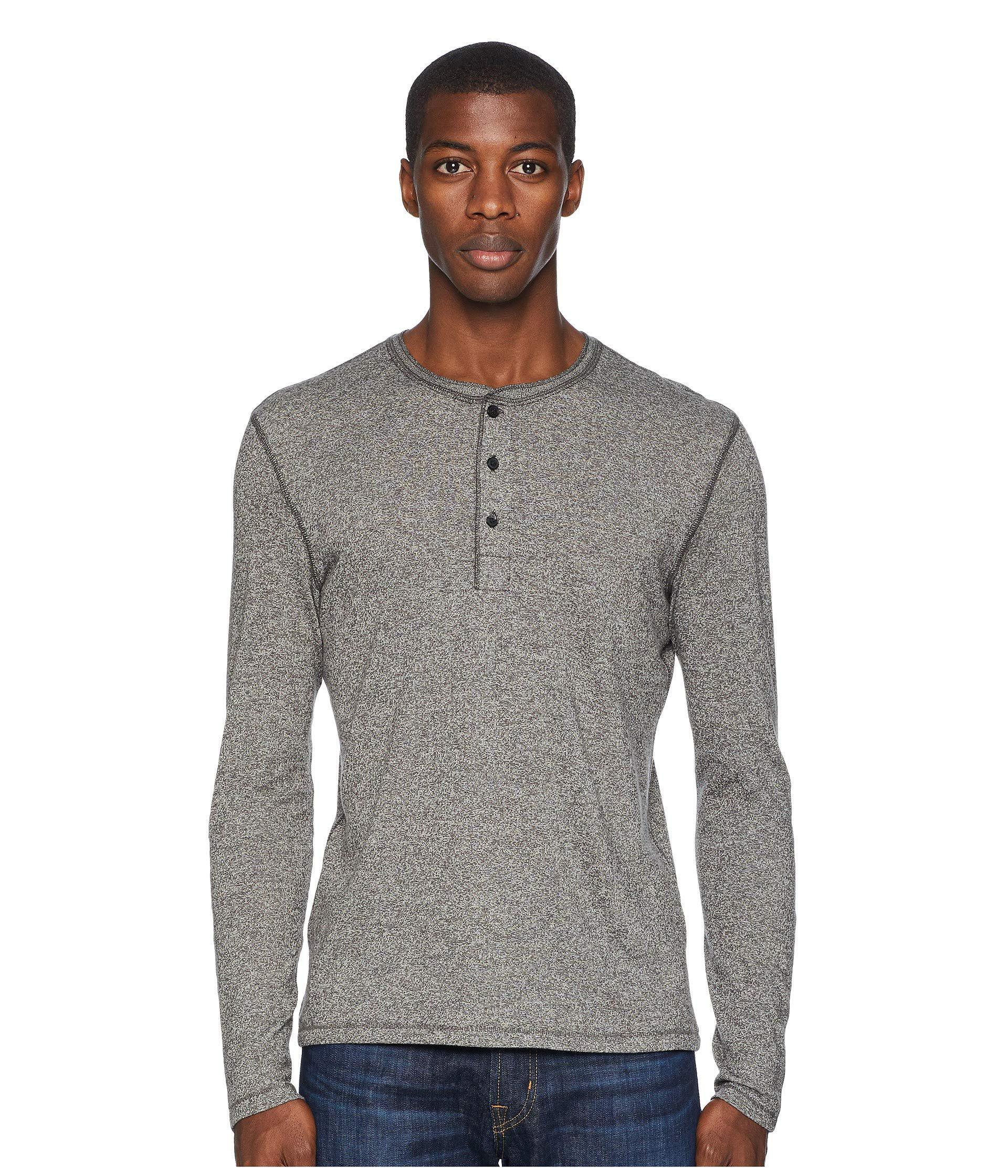 5349a7b4f89 Lyst billy reid mouline henley grey mens clothing in gray jpg 1920x2240 Grey  mens clothing