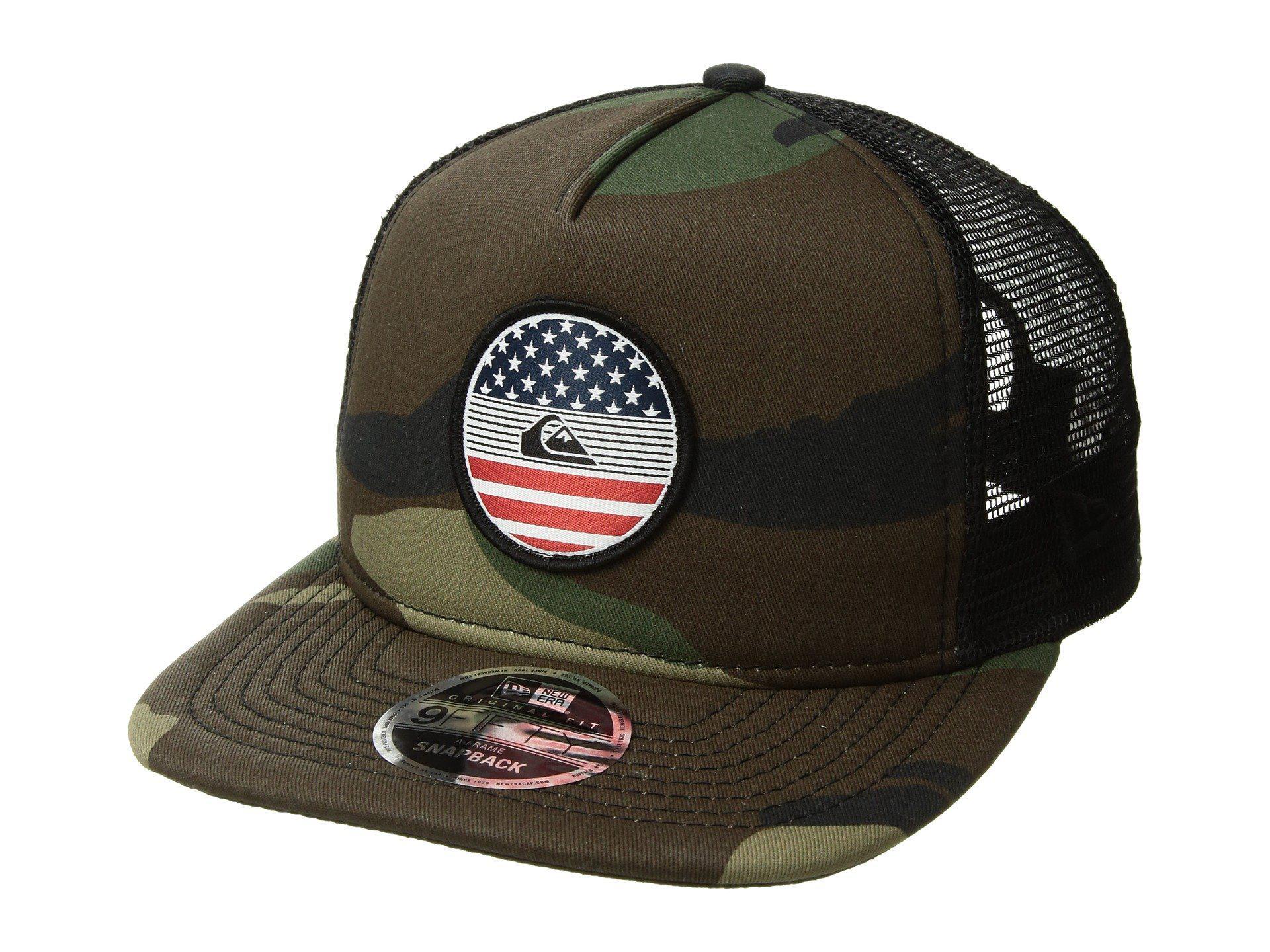 super popular c0392 24ced ... germany lyst quiksilver flag trucker hat for men c84c9 b1515