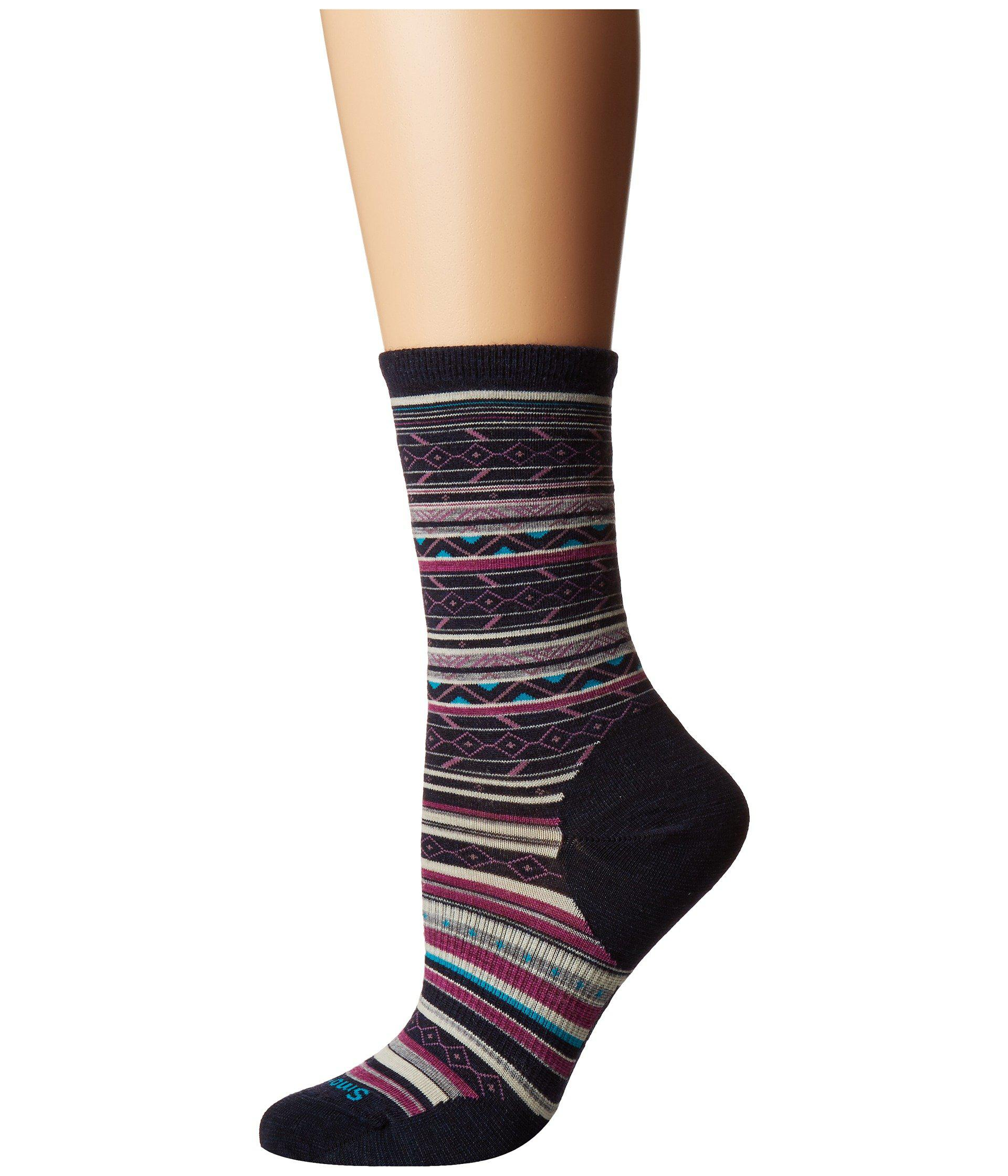 6a3e0f3af57 Lyst - Smartwool Ethno Graphic Crew (bordeaux Heather) Women s Crew ...