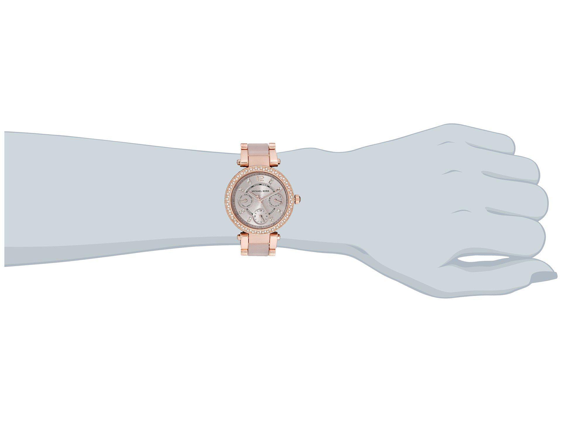 cb9e365bf7a9 Michael Kors - Pink Mk6110 - Mini Parker (rose Gold blush) Watches -. View  fullscreen