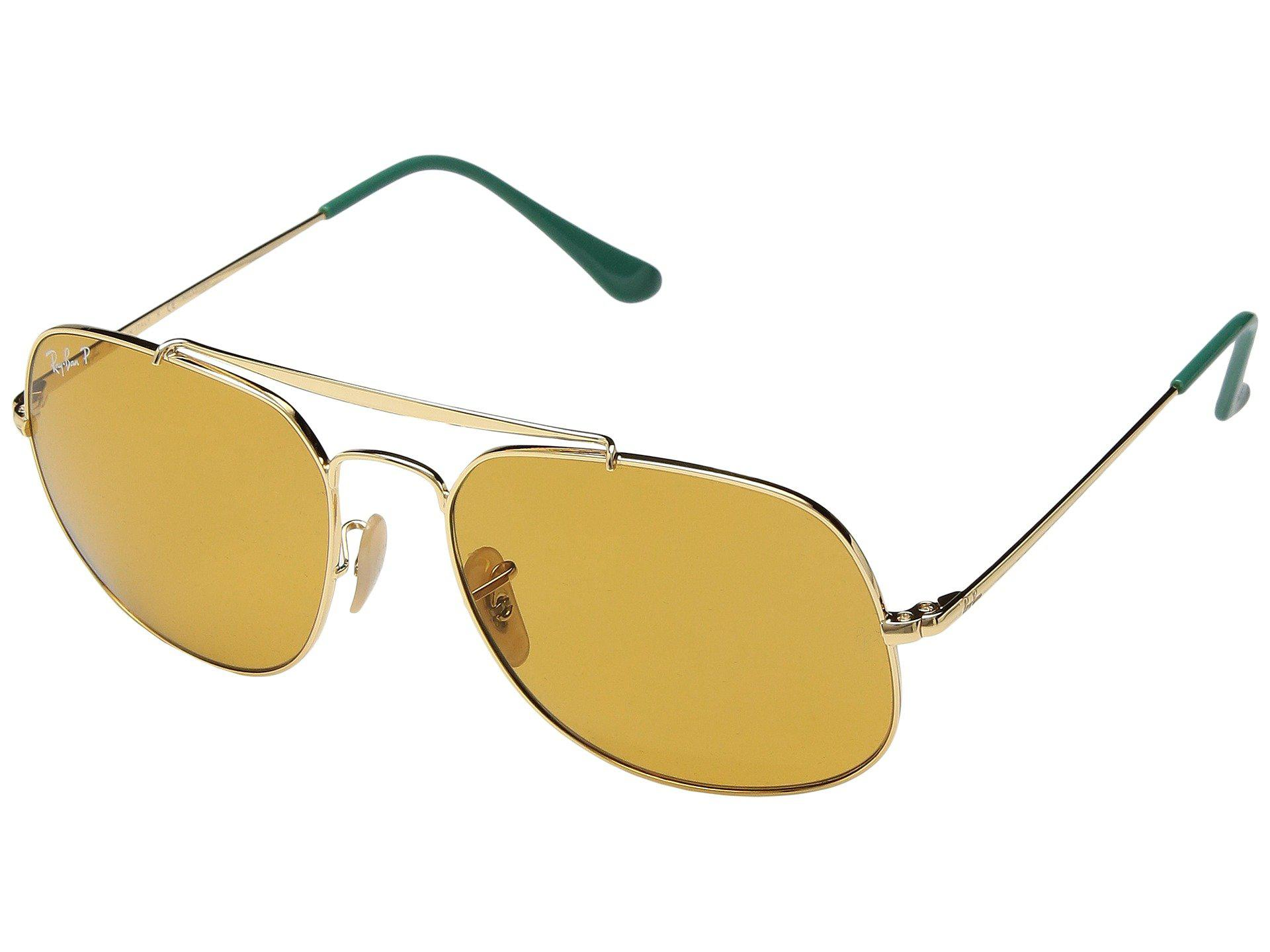 d96c7de2a17 Lyst - Ray-Ban 0rb3561 The General 57mm (shiny Gold Frame classic ...