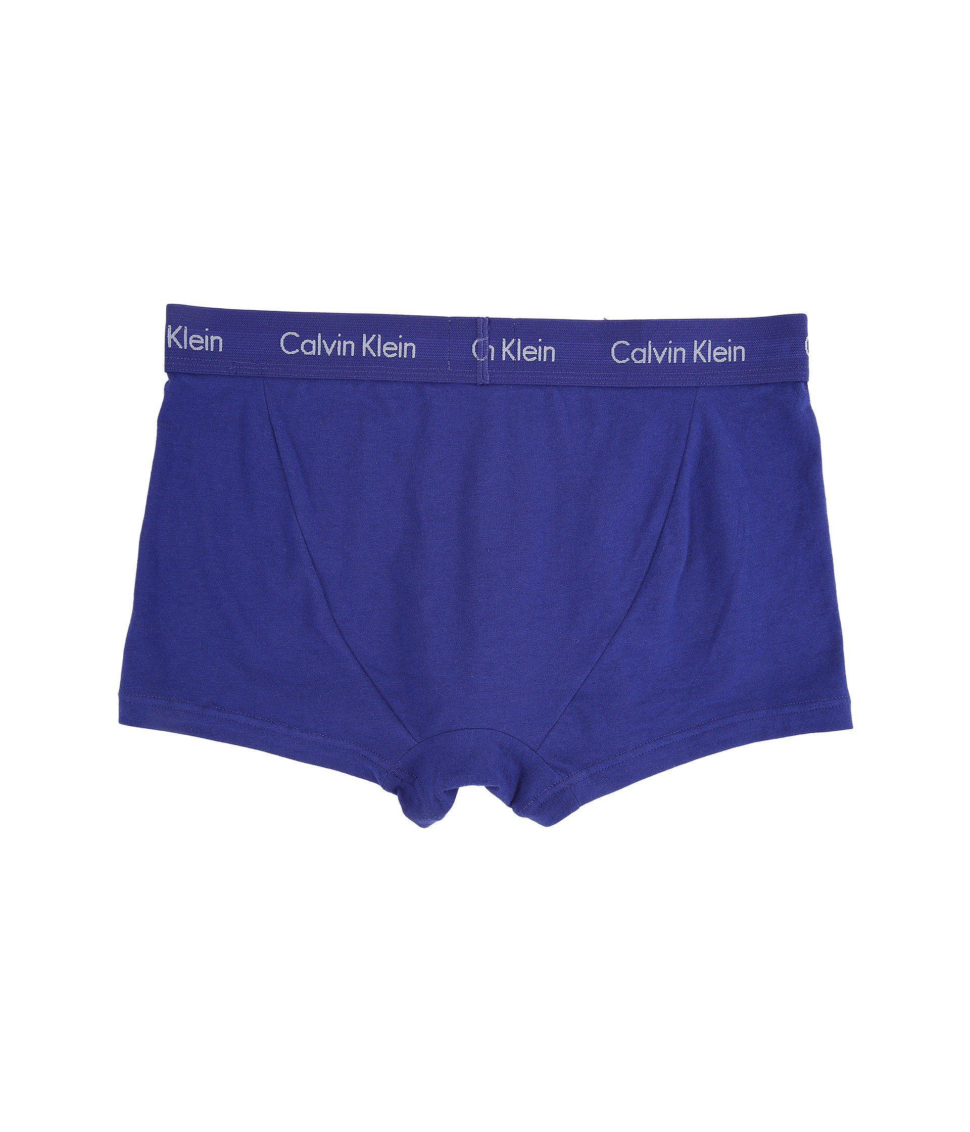 a100d1b50036 Lyst - Calvin Klein Cotton Stretch Low Rise Trunk 3-pack Nu2664 ...
