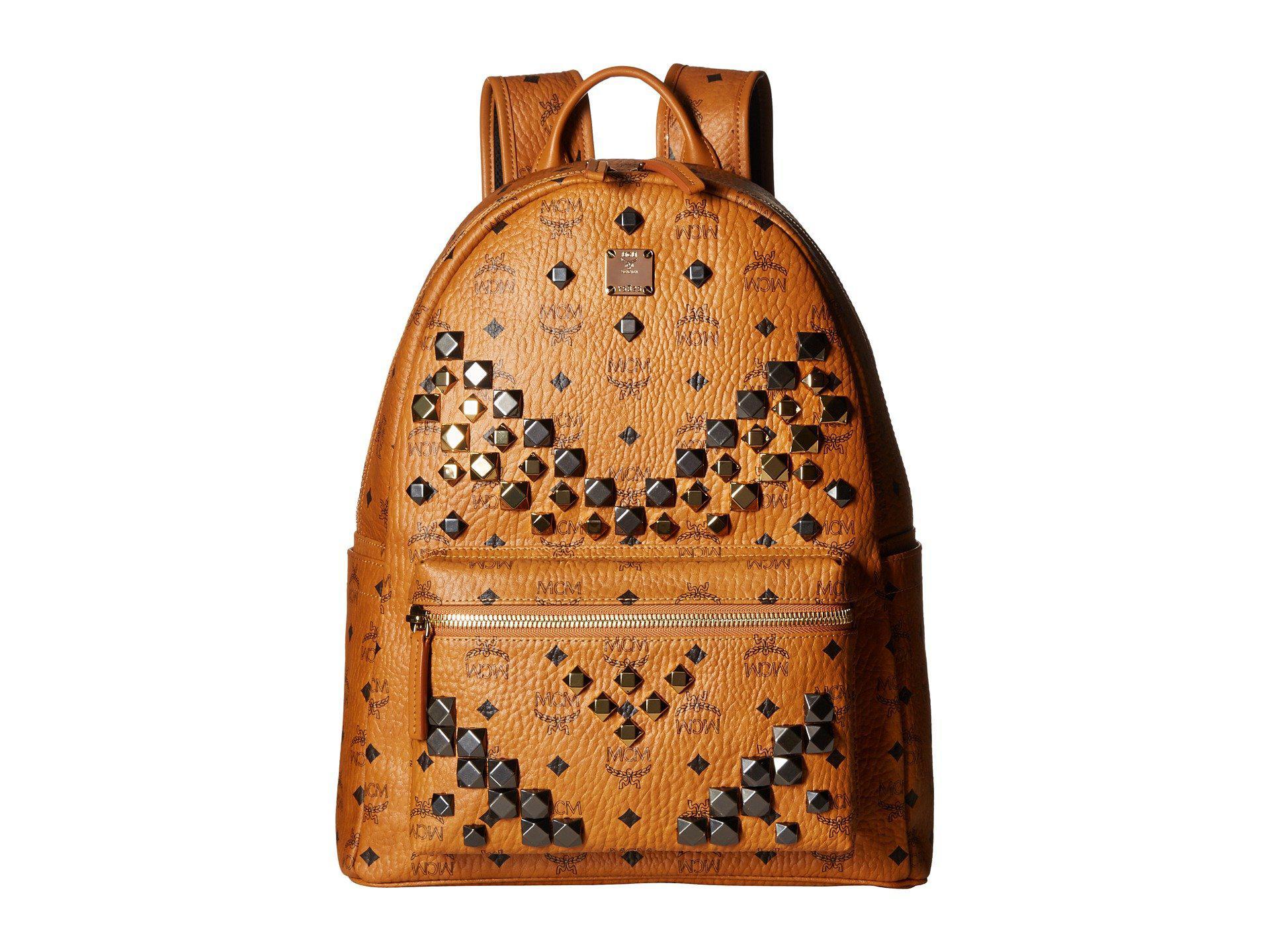 750a0e2ede6 Lyst - Mcm Stark M Stud Medium Backpack (cognac) Backpack Bags for Men