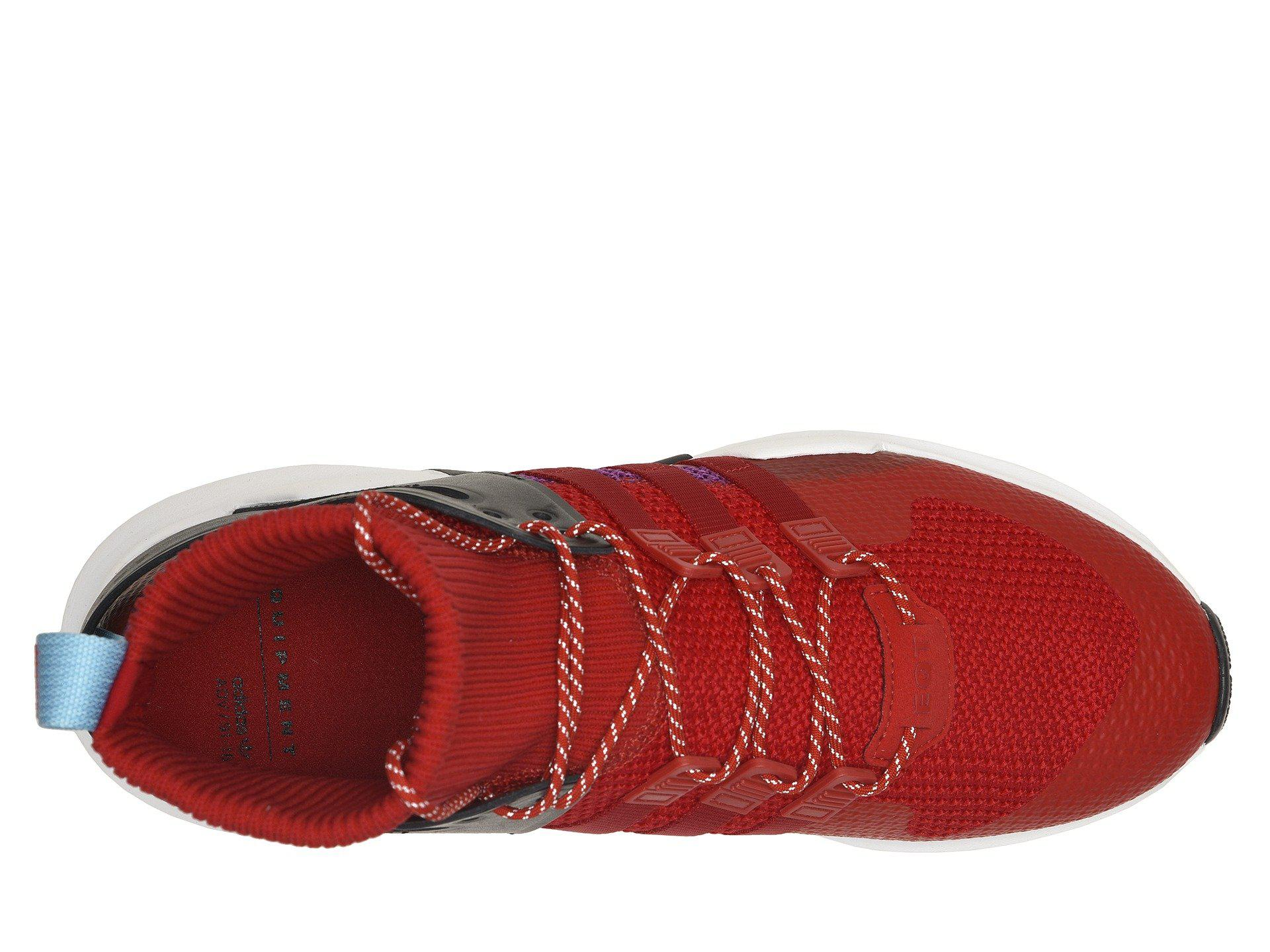 new concept 9a802 25bba Adidas - Red Eqt Support Adv Winter (gretwo,gretwo,ftwwht) Mens Shoes.  View fullscreen