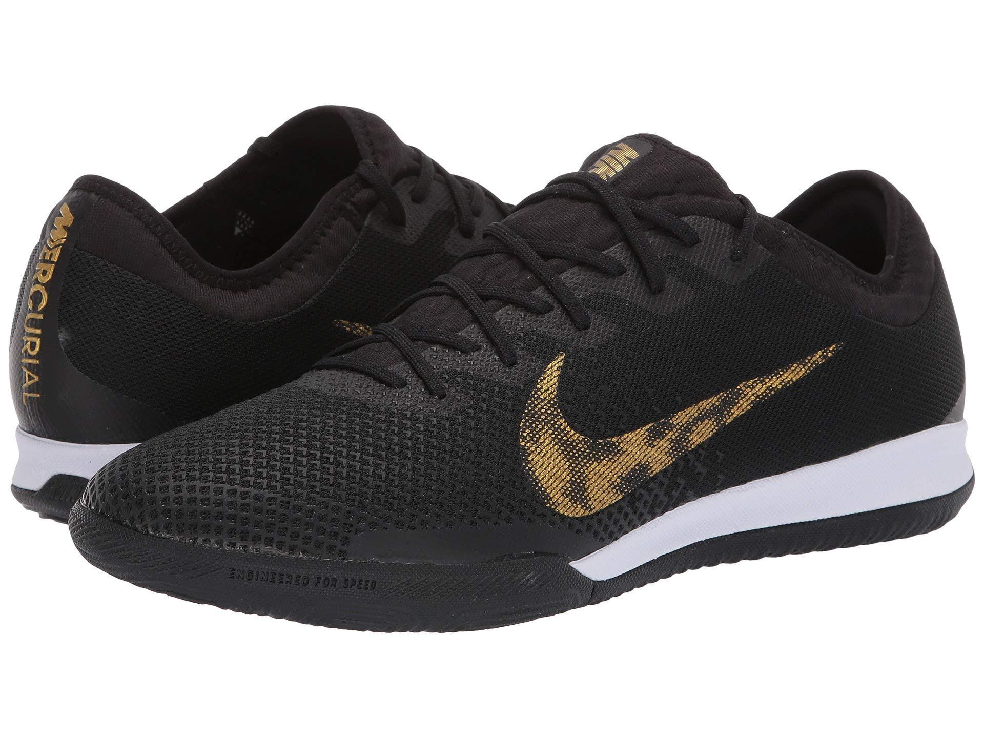 6ea1192fb Nike Vaporx 12 Pro Ic (black metallic Vivid Gold) Men s Soccer Shoes ...