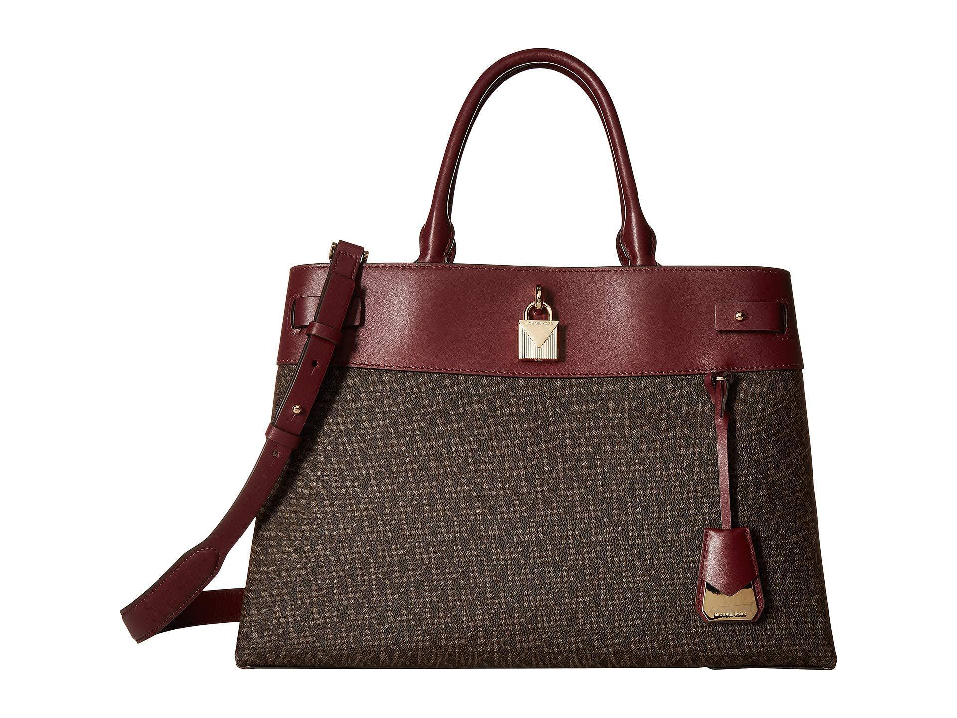 9ee9df238d5e MICHAEL Michael Kors. Women s Brown Gramercy Large Satchel (oxblood)  Satchel Handbags