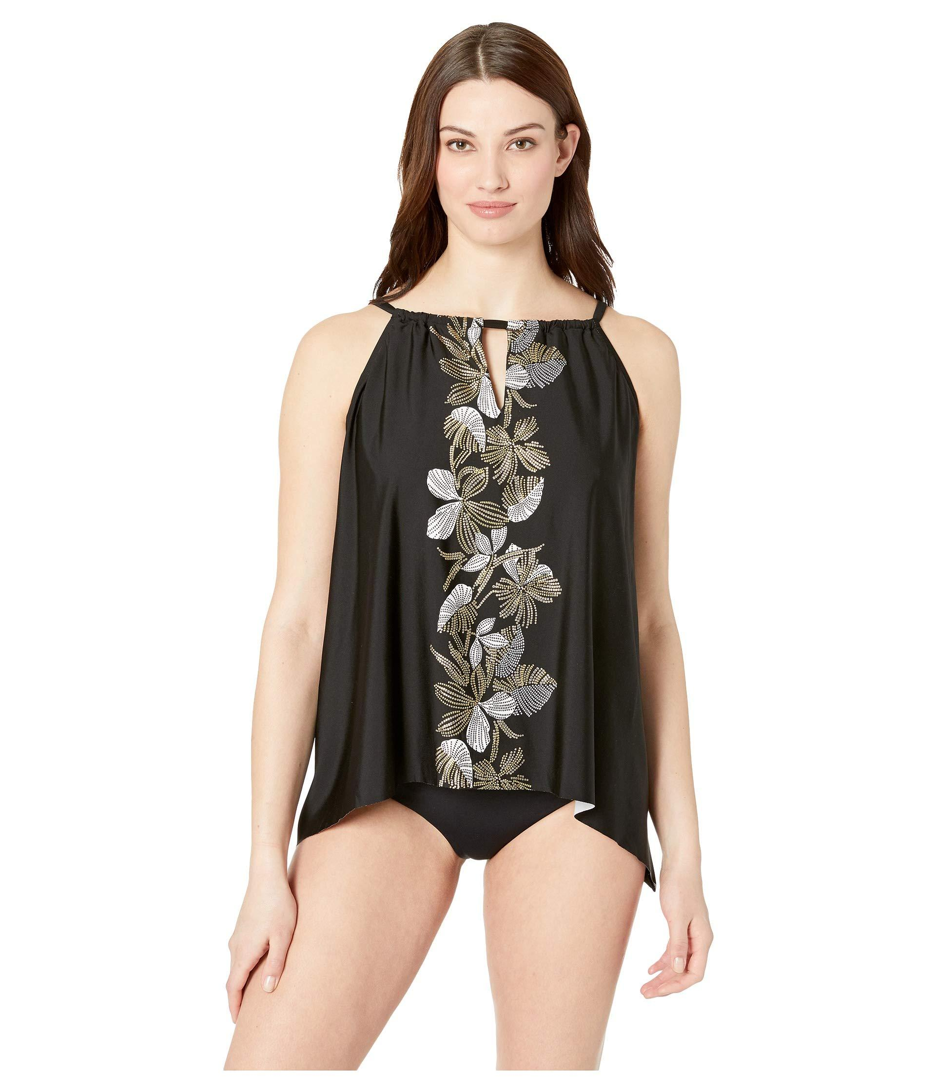 3b92f461ece Lyst - Miraclesuit Petal To The Metal Dd-cup Peephole Tankini Top ...