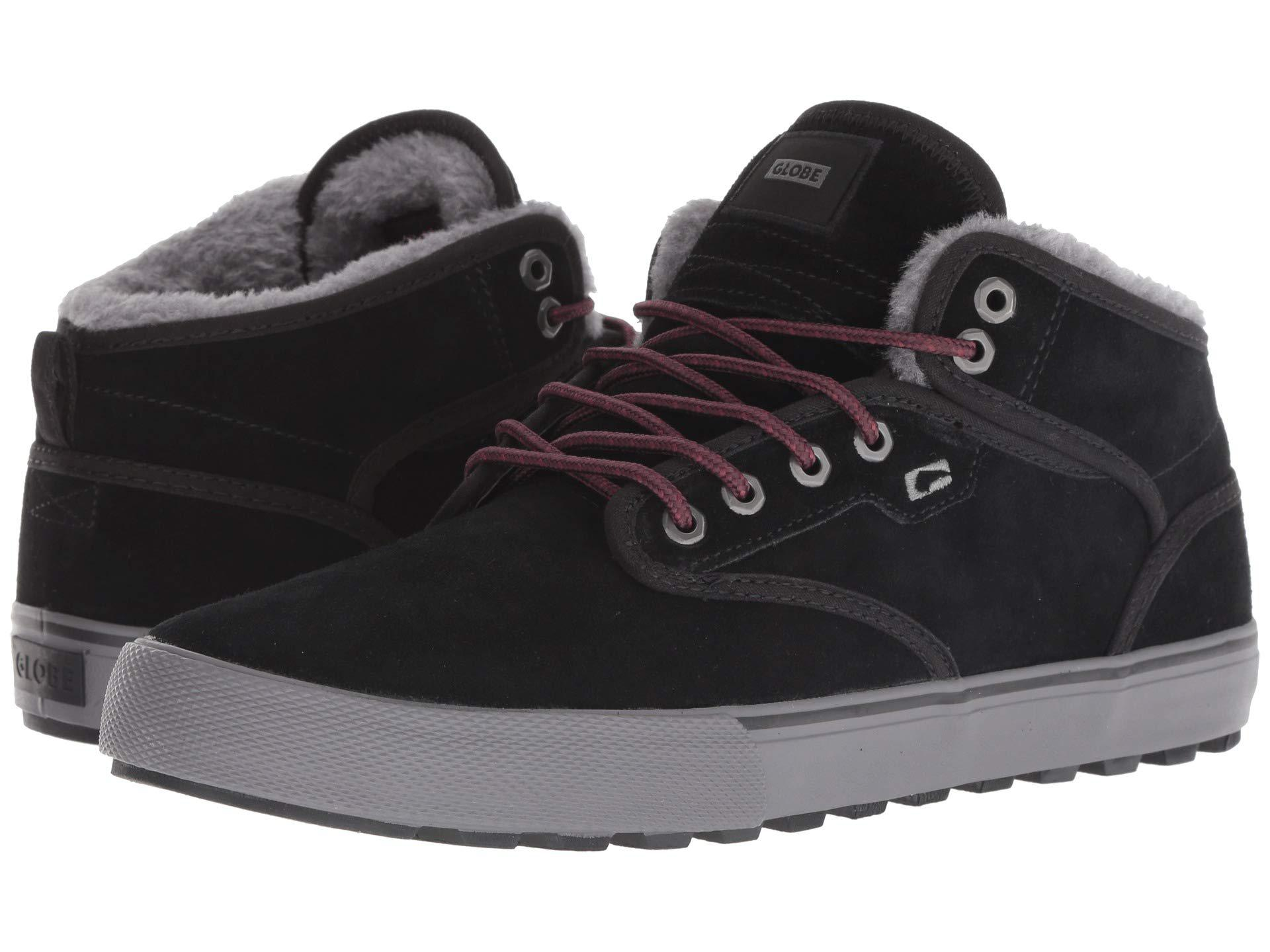 47cc055955 Lyst - Globe Motley Mid (black Suede white) Men s Skate Shoes in ...