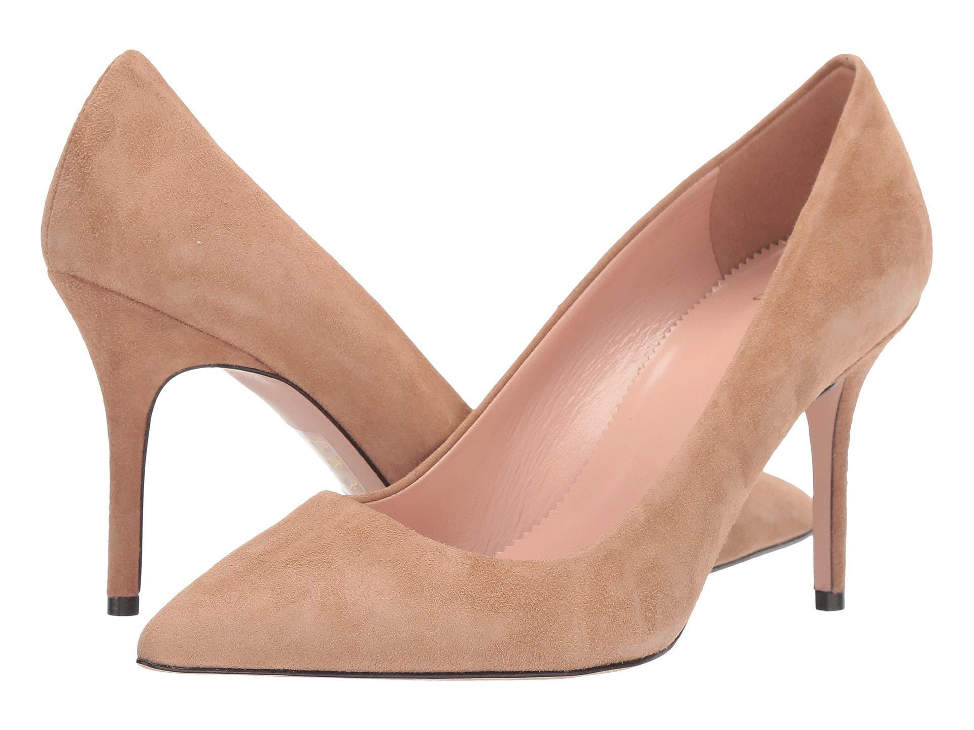 92515984099 Lyst - J.Crew Elsie Suede Pump (ashen Brown) Women s Shoes in Brown