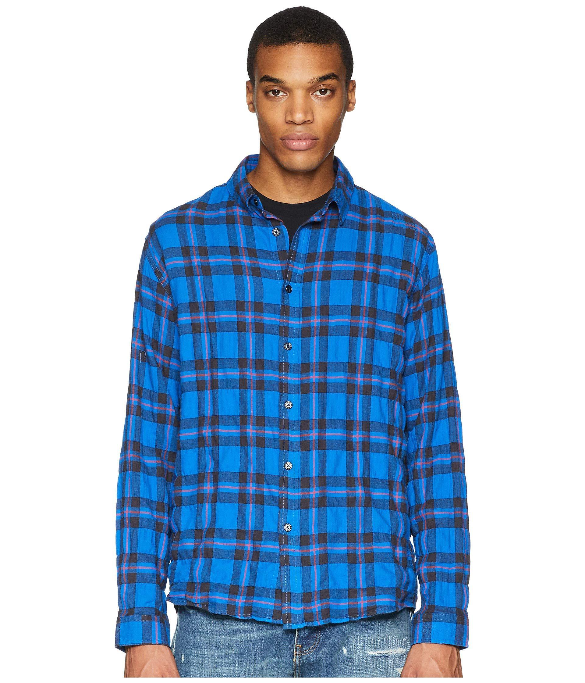 6c8d99af230 Lyst - The Kooples Buttoned Denim Shirt (blue) Men s Long Sleeve ...