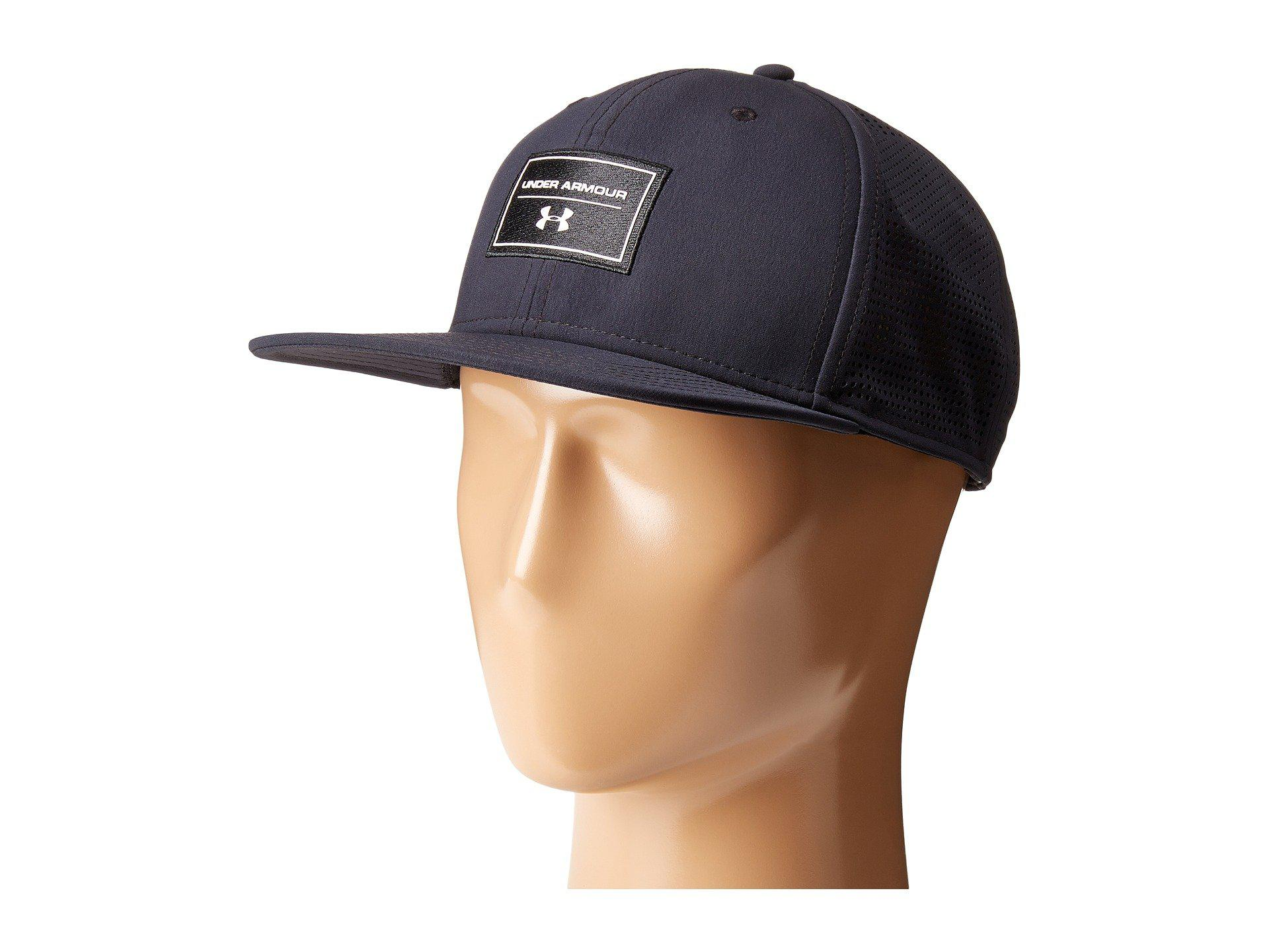 promo code b9798 f958f Under Armour Ua Supervent Fb Hat in Black for Men - Lyst