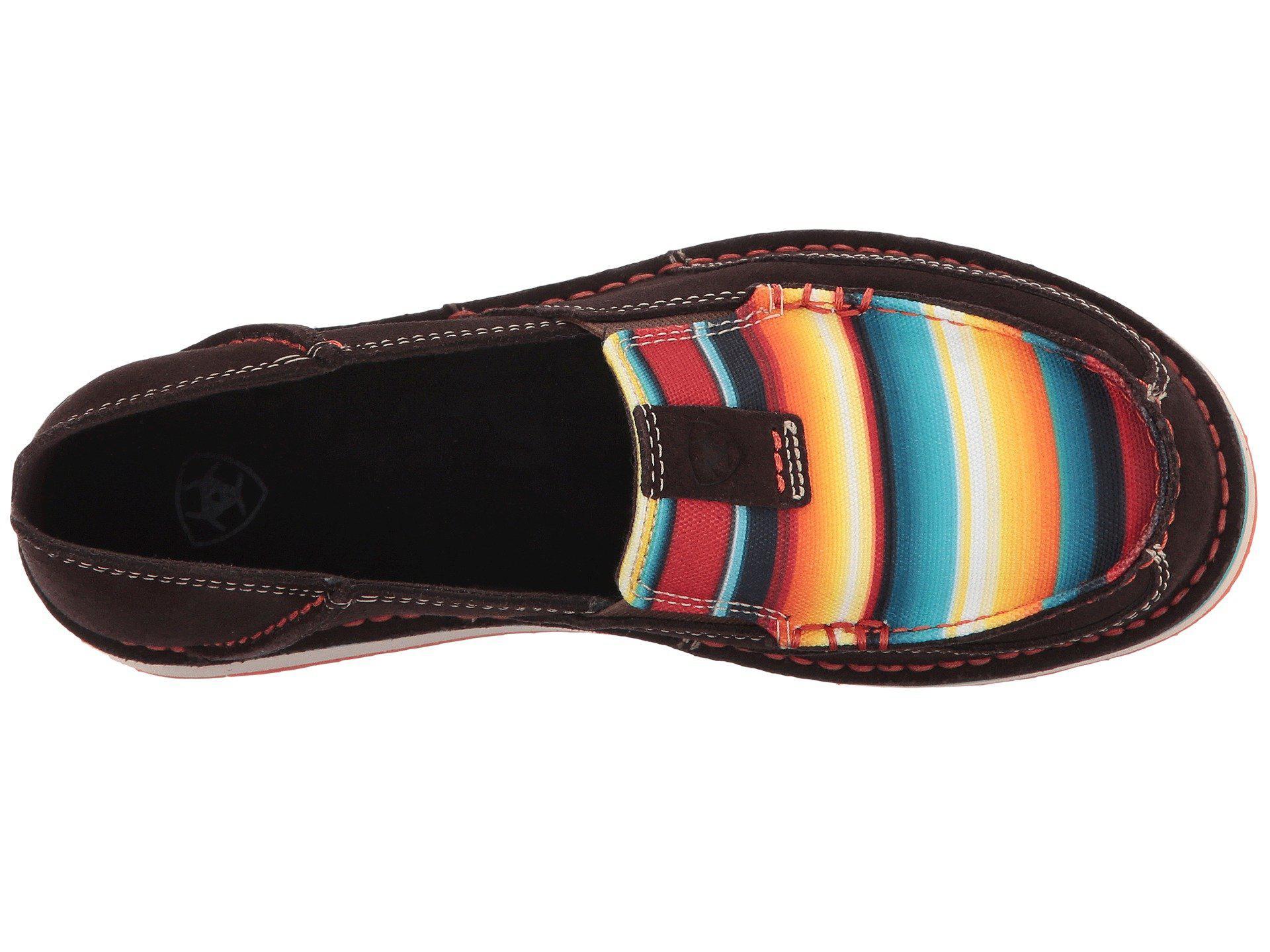 8b967141 Ariat - Red Cruiser (bean Suede/pastel Aztec Print) Women's Slip On Shoes.  View fullscreen