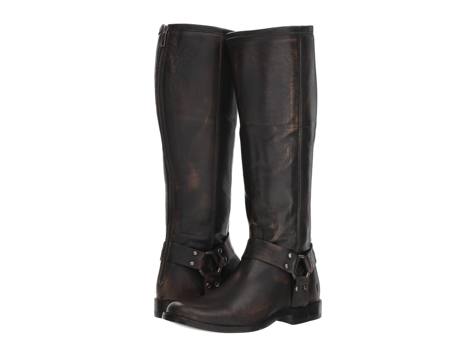 d60780d295c Lyst - Frye Phillip Harness Tall (dark Brown Extended Brush-off ...