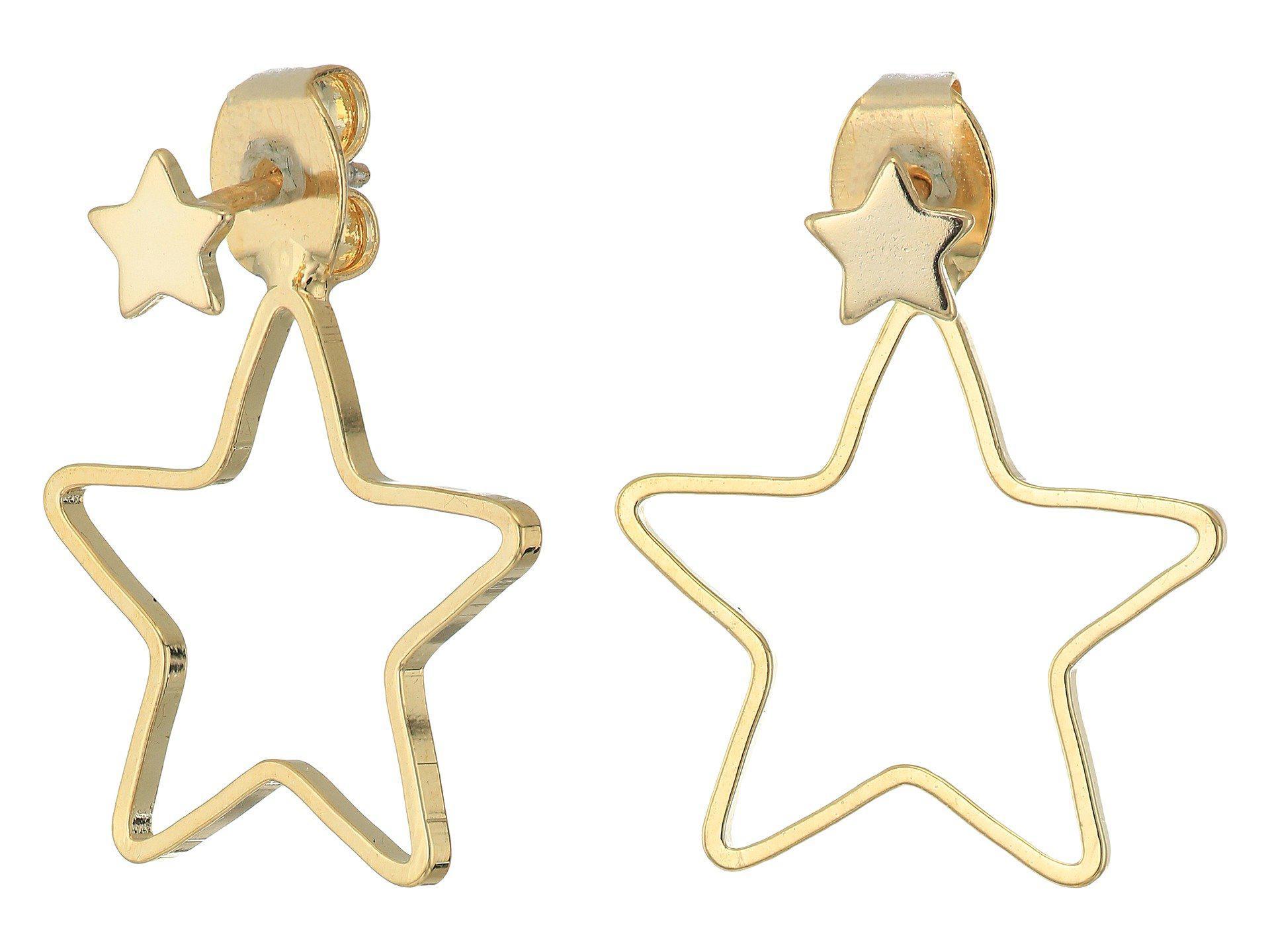Ouvert Boucles D'oreilles Veste Étoile En Shashi Or Métallique CLN6UOo0qs