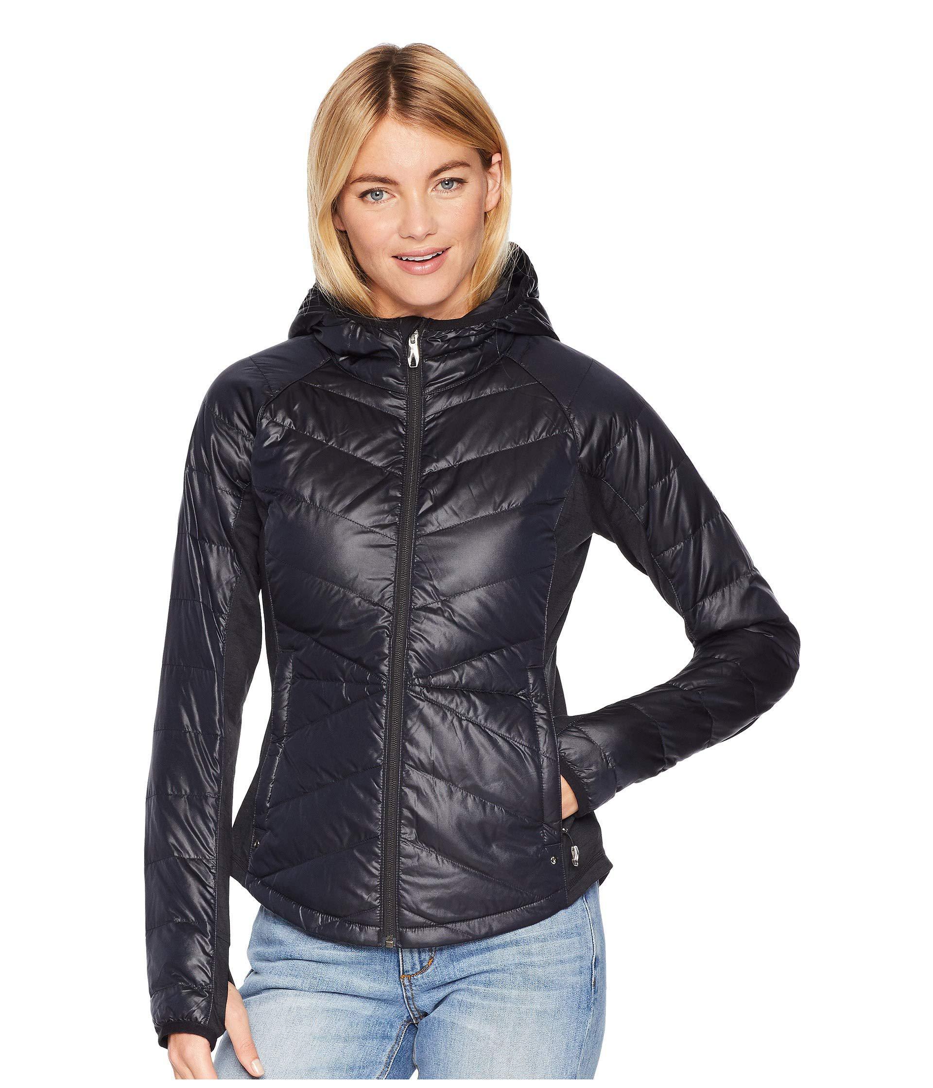 b4de04bf90f Lyst - Spyder Solitude Hoodie Down Jacket (black black) Women s Coat ...