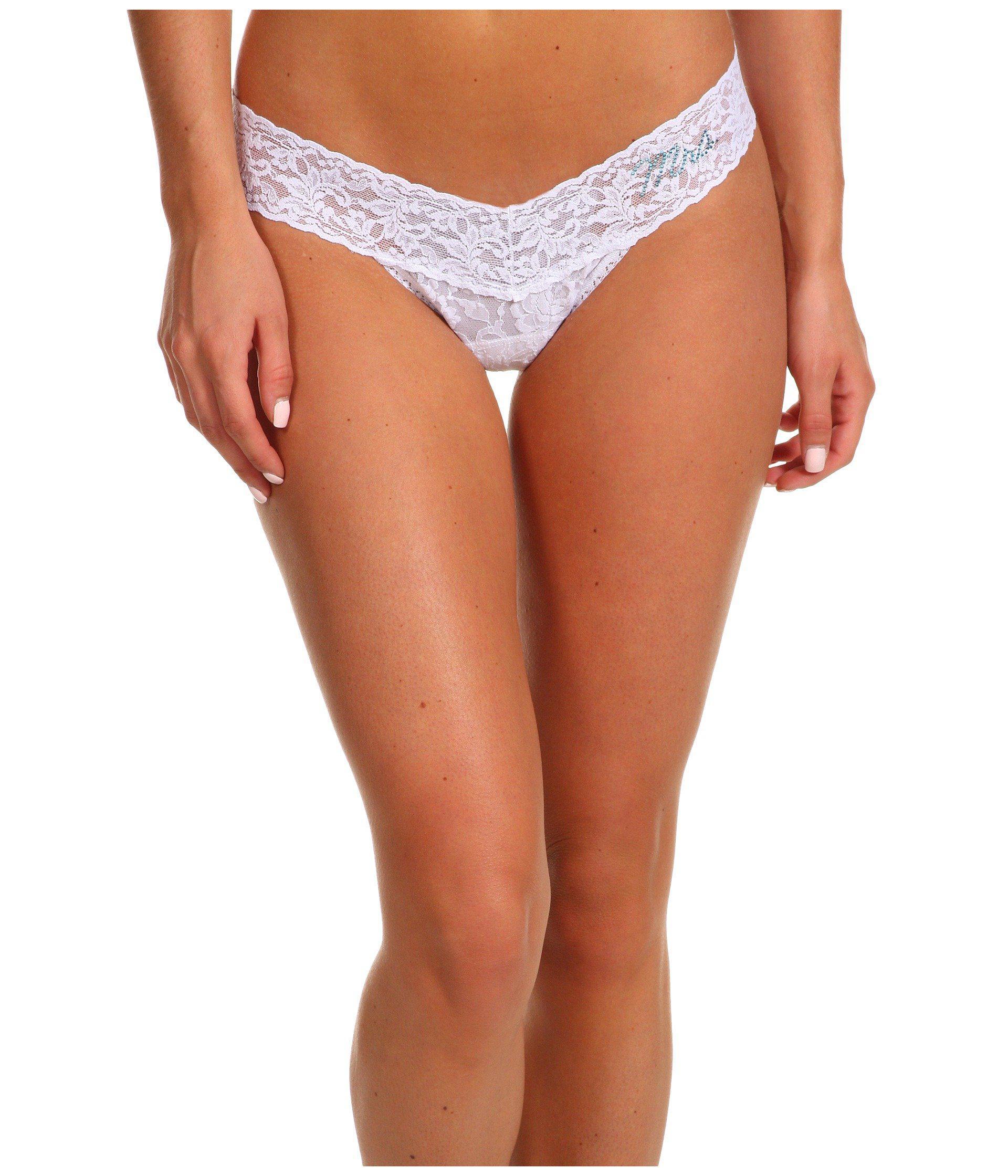 e514da782c83 Lyst - Hanky Panky Bride Mrs. Low Rise Thong Gift Set (white/powder Blue)  Women's Underwear