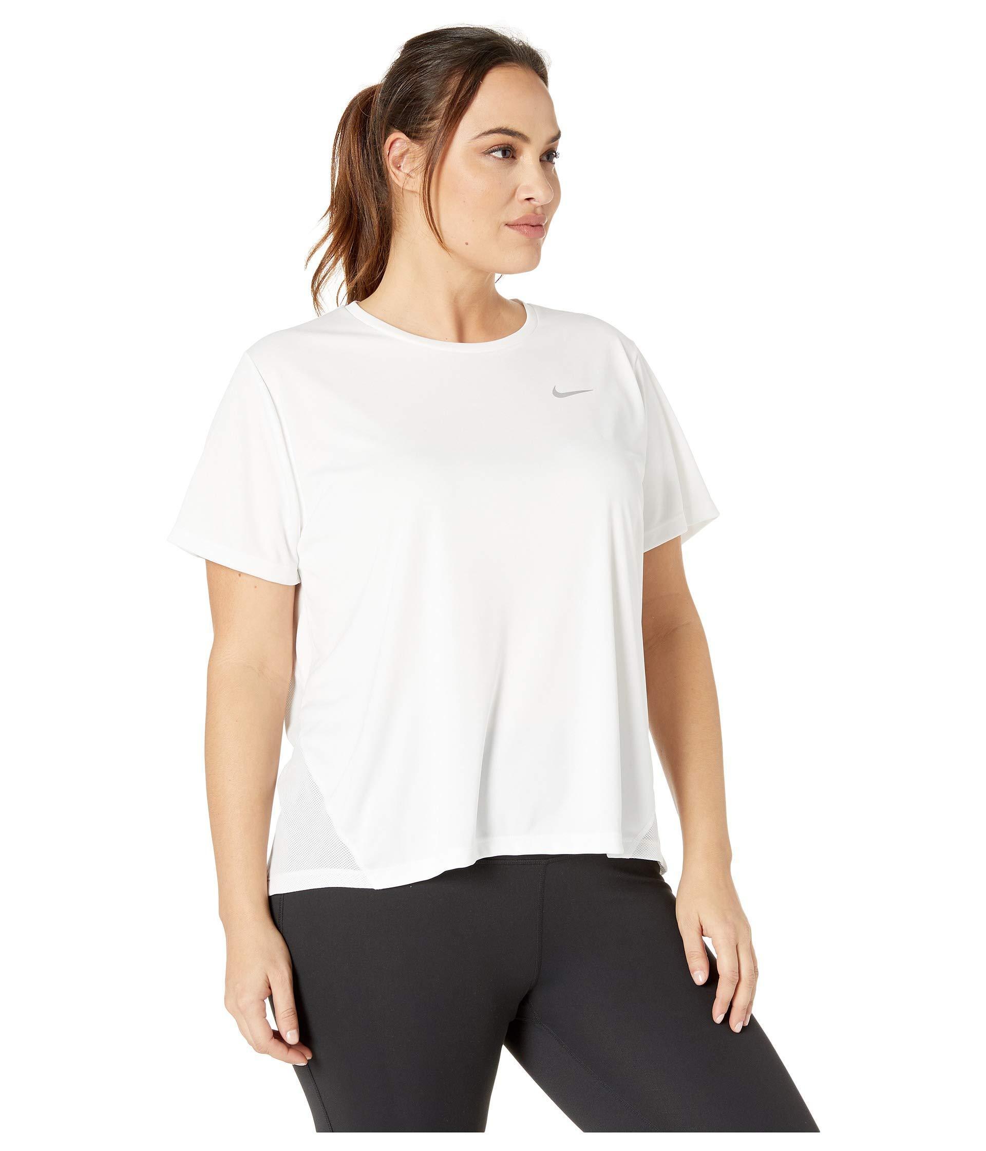0cff3881 Nike - White Dry Miler Top Short Sleeve (size 1x-3x) (gunsmoke. View  fullscreen