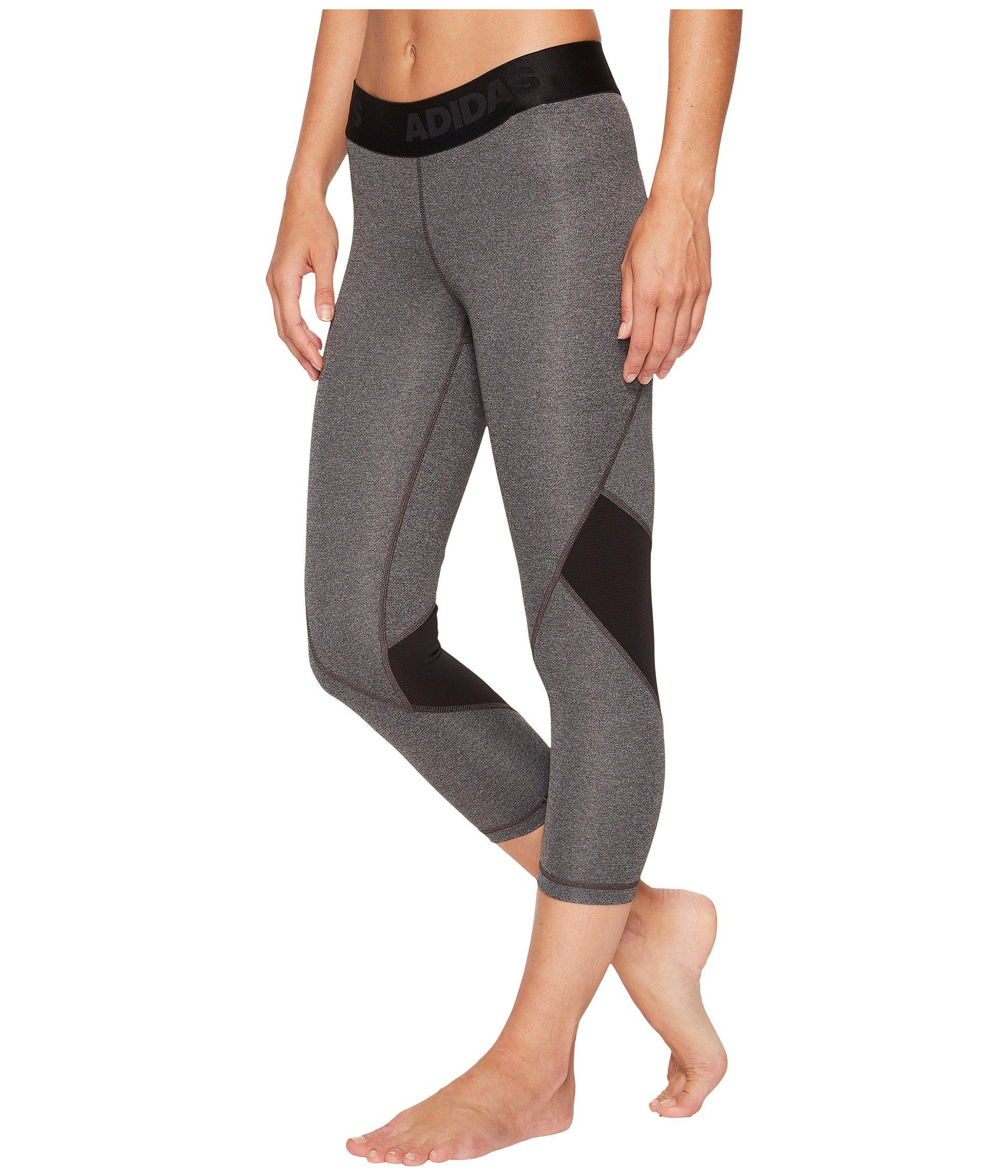 buy online 6414d 5158c Lyst - adidas Alphaskin Sport 3 4 Tights (black) Women s Workout in Gray