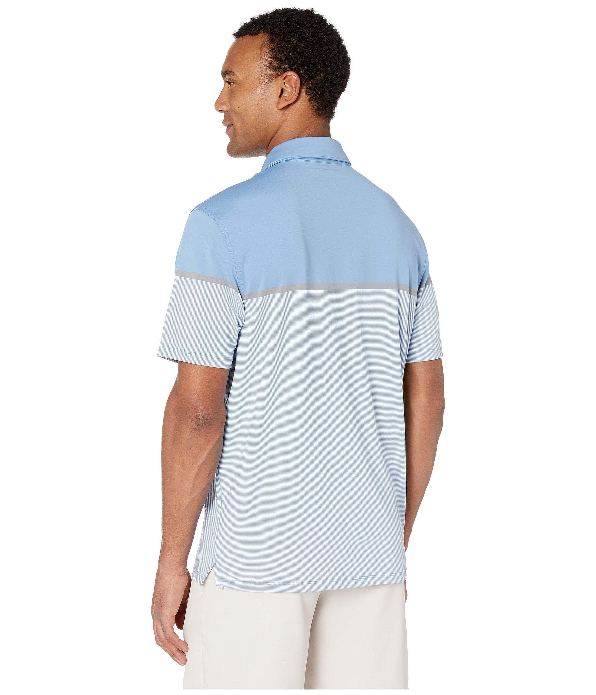 db2d0717c1 Vineyard Vines - Blue Caneel Bay Stripe Bowline Polo (coastline) Men's  Short Sleeve Pullover. View fullscreen