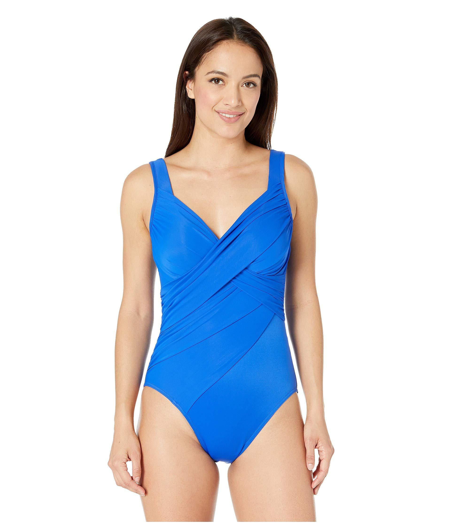 1aa531f395d Lyst - Miraclesuit Rock Solid Revele One-piece (delphine Blue ...