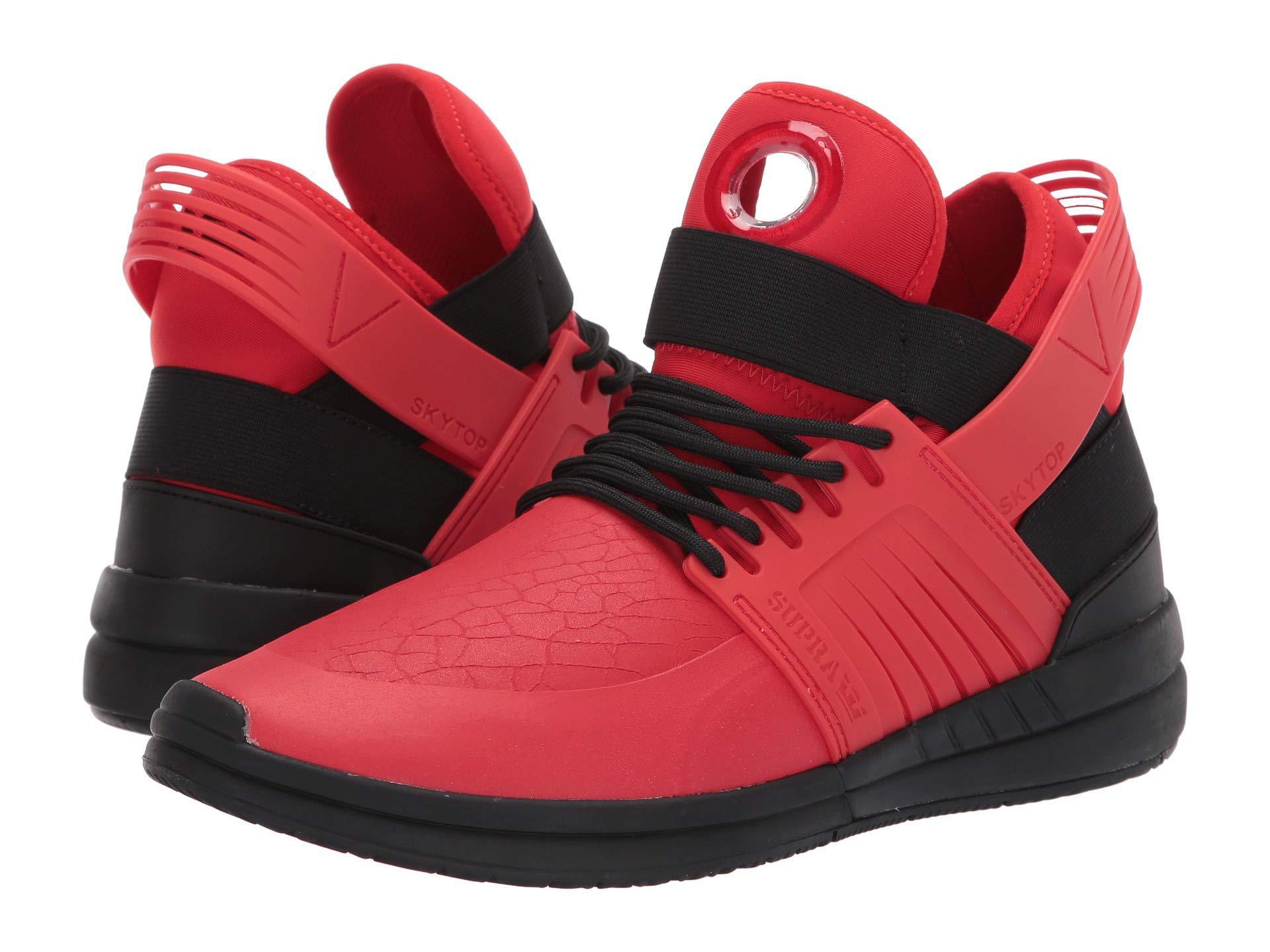5a3403ccba8b Lyst - Supra Skytop V (risk Red black black) Men s Skate Shoes in ...