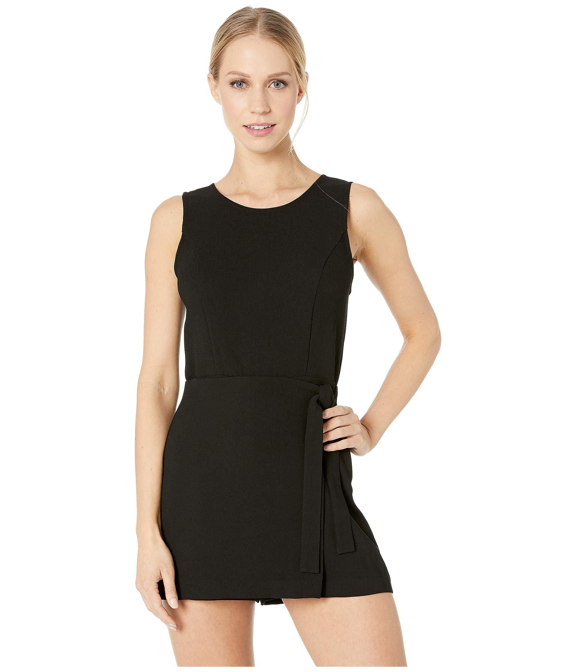 629fabdc870 BCBGeneration. Front Overlap Sleeveless Woven Romper (black) Women s  Jumpsuit   Rompers One Piece