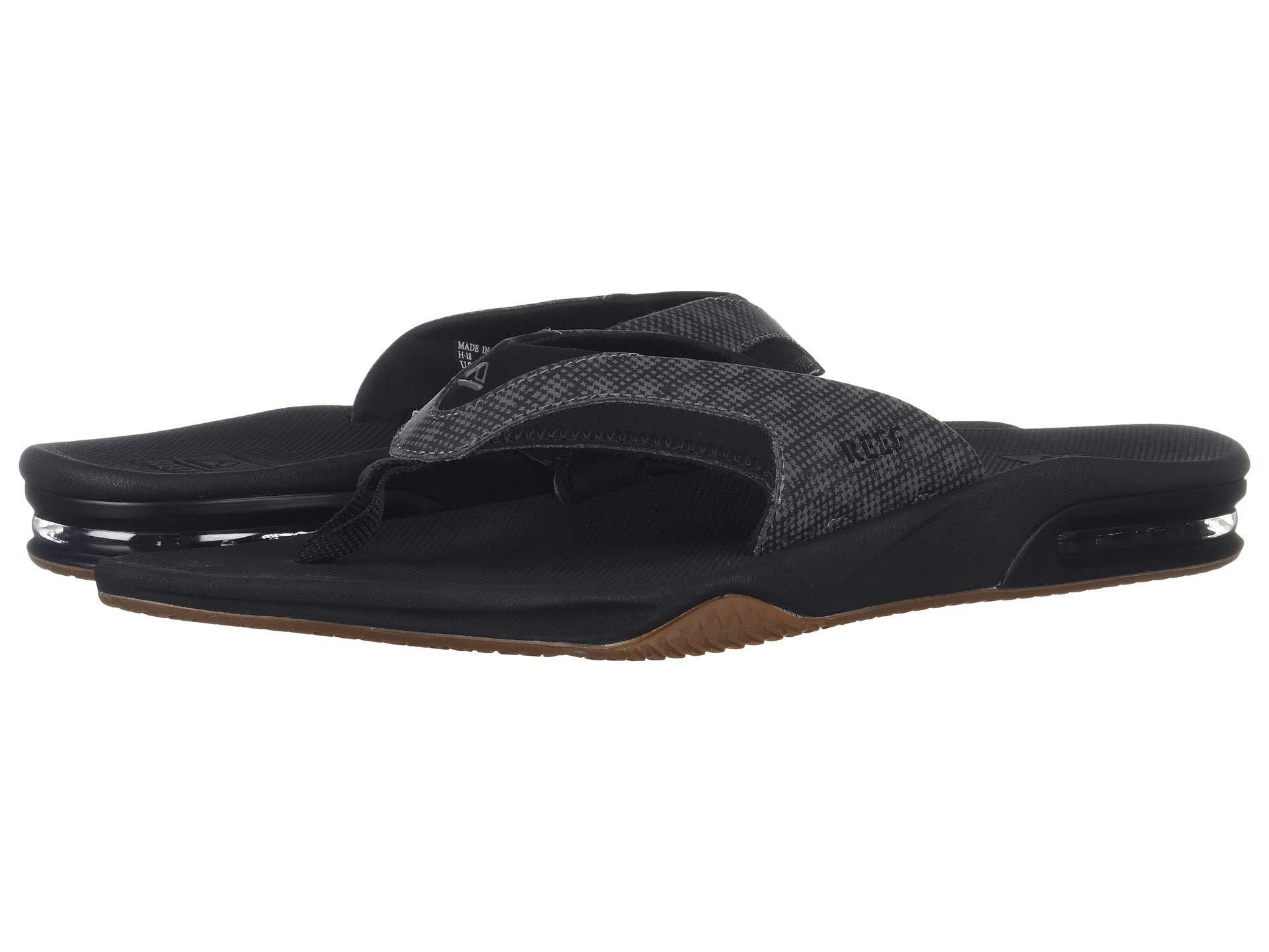 00193520e04f Lyst - Reef Fanning Prints (black Hound) Men s Sandals in Black for Men