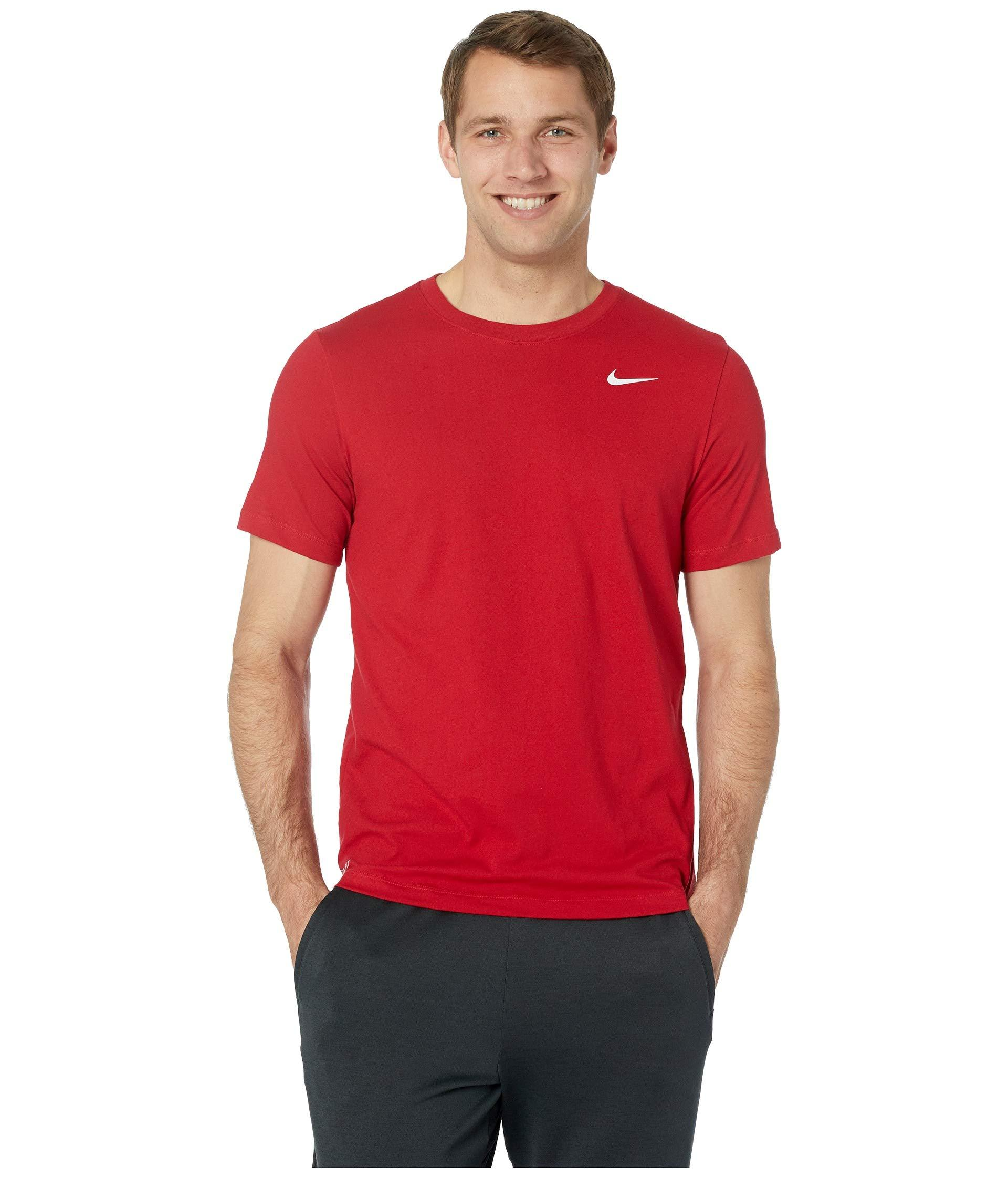 4e944d440e6b Lyst - Nike Dry Tee Dri-fittm Cotton Crew Solid (black white) Men s ...