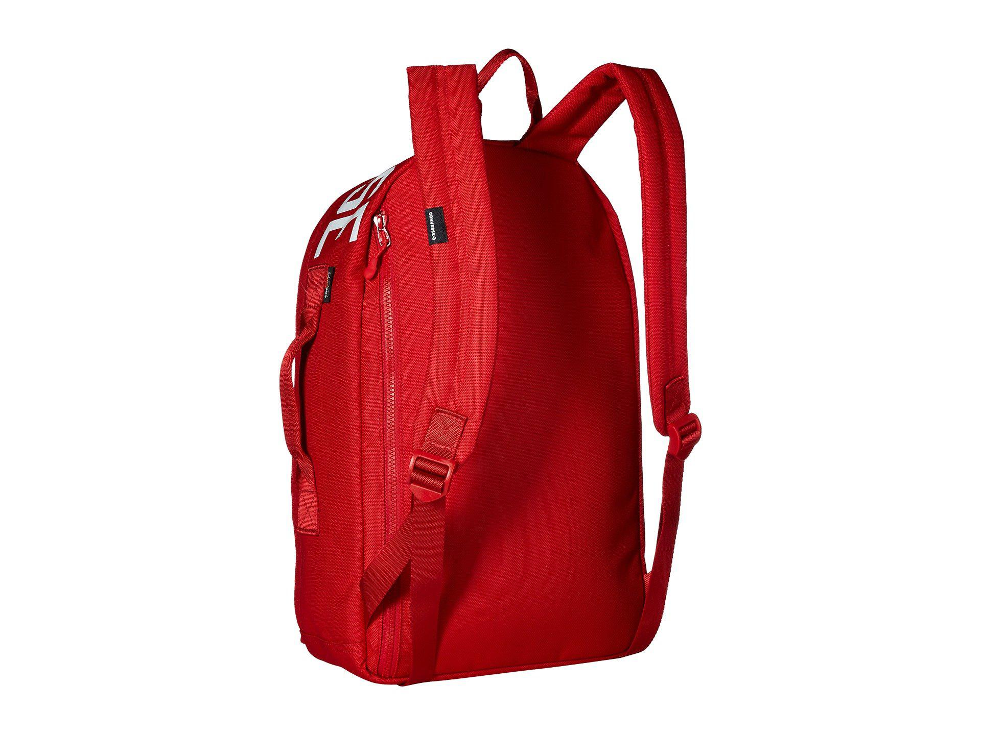 2ed46c7fe76754 Lyst - Converse Street 22 Backpack (enamel Red white) Backpack Bags ...