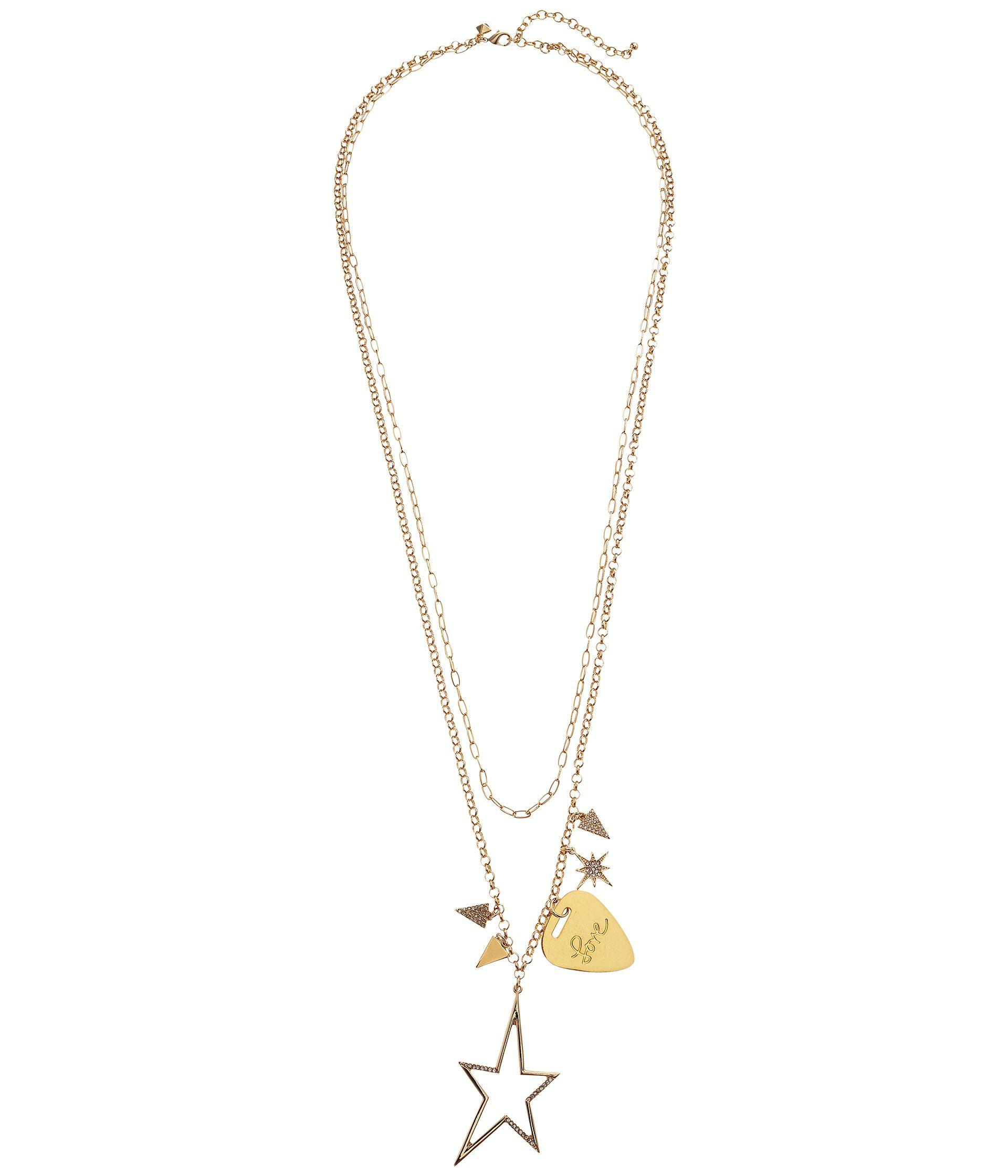 Lyst rebecca minkoff guitar pick charm cluster necklace in metallic rebecca minkoff womens metallic guitar pick charm cluster necklace aloadofball Image collections
