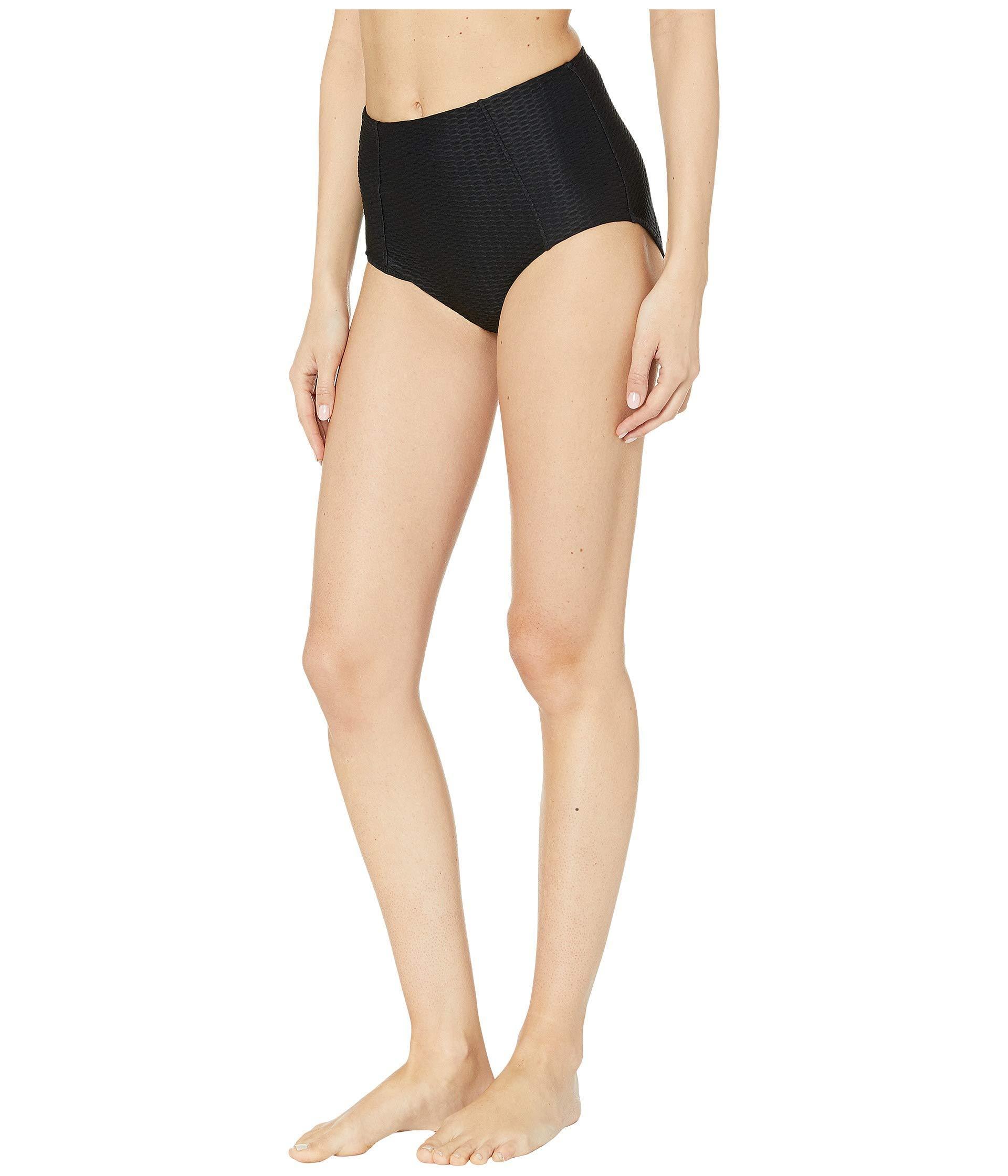 47631d62e88be Seafolly La Luna High Waisted Bikini Pants (black) Women's Swimwear in Black  - Lyst