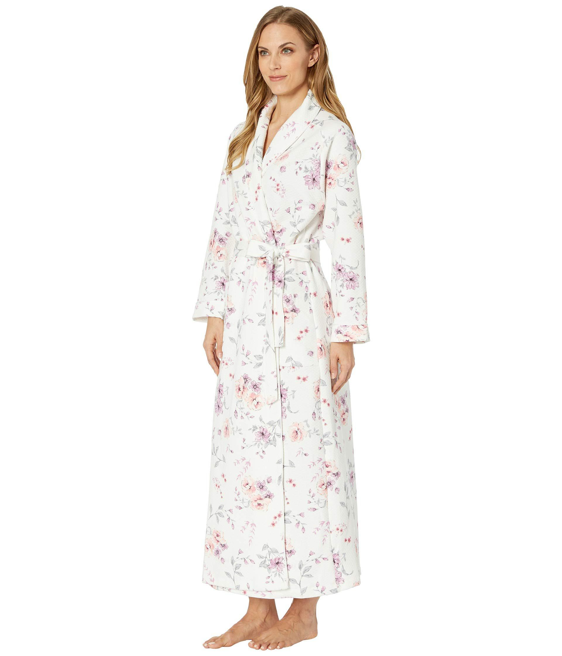 Lyst - Carole Hochman Diamond Quilt Wrap Robe (multi Rose Floral) Women s  Robe 37c0a7437