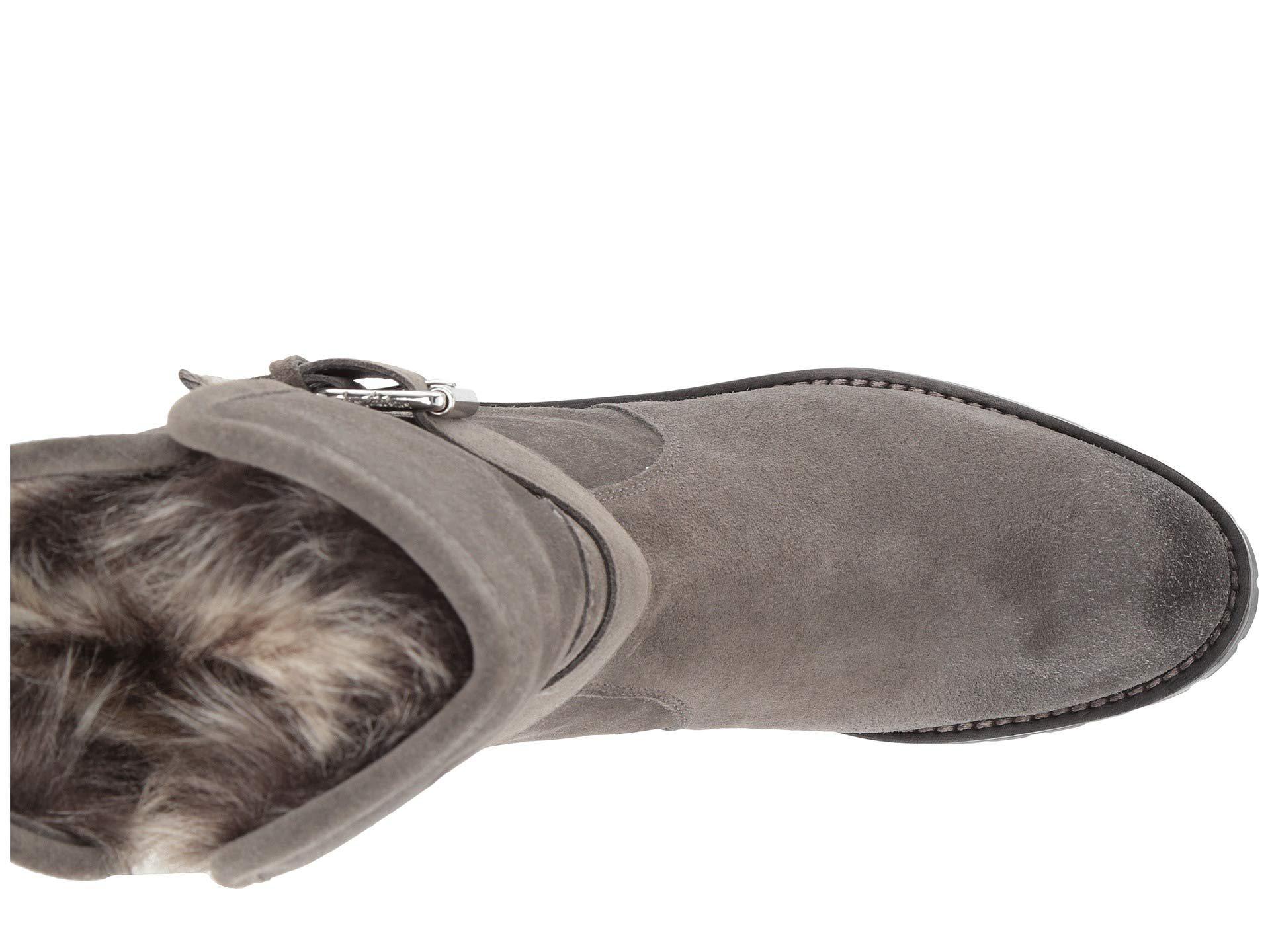 5d62a2c53832 Sam Edelman - Gray Jeanie (black Suede Waterproof Velour Suede Leather)  Women s Shoes -. View fullscreen