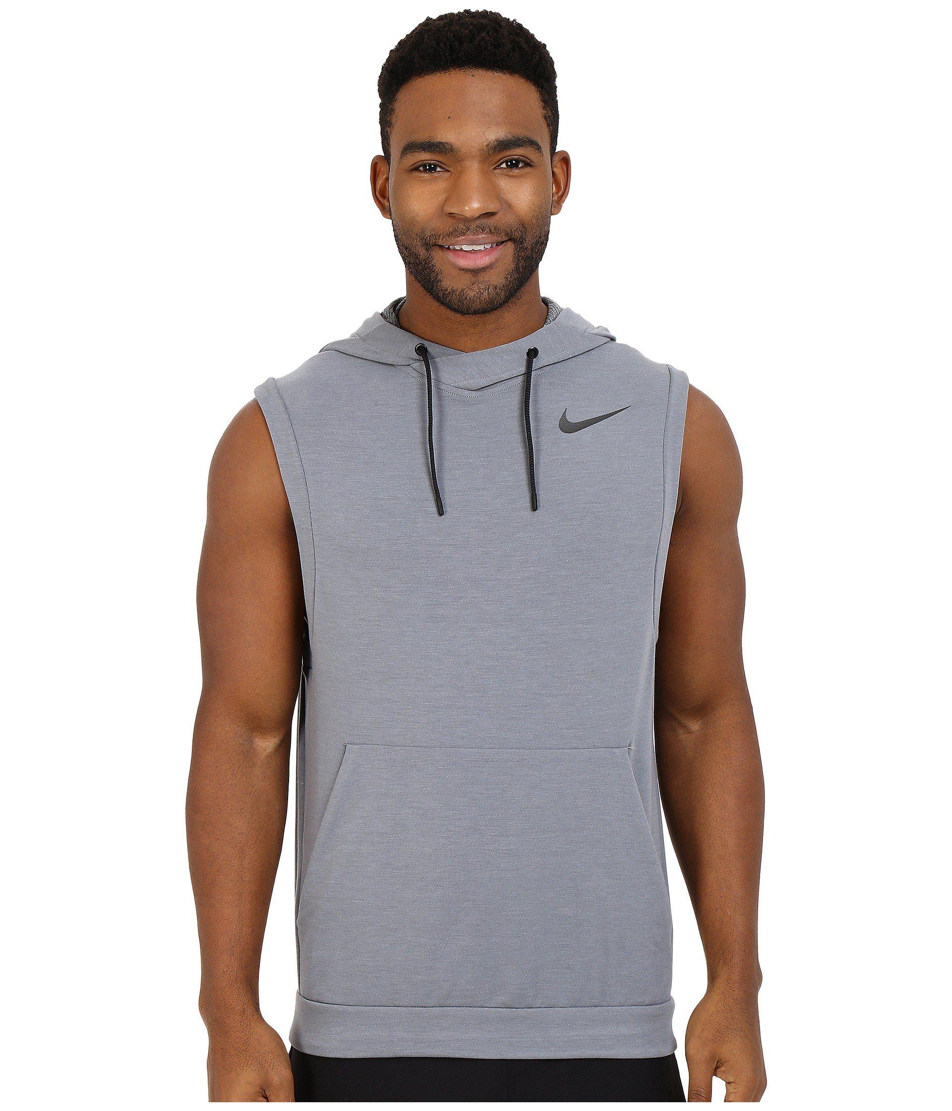 7c47513a9457e Lyst - Nike Fleece Pullover Sleeveless Training Hoodie in Gray for Men
