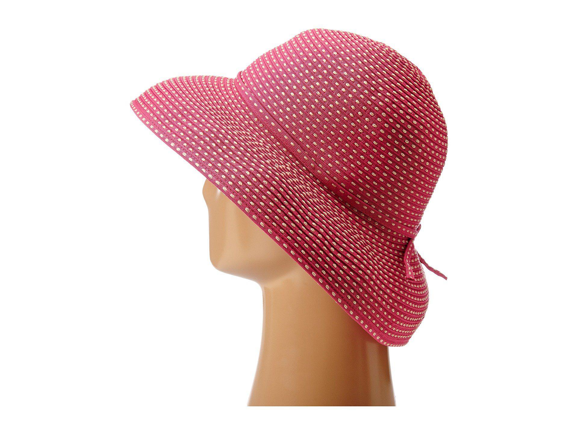 9afd815da28 Lyst - San Diego Hat Company Rbm4784 Ribbon Kettle Brim Hat (black ...