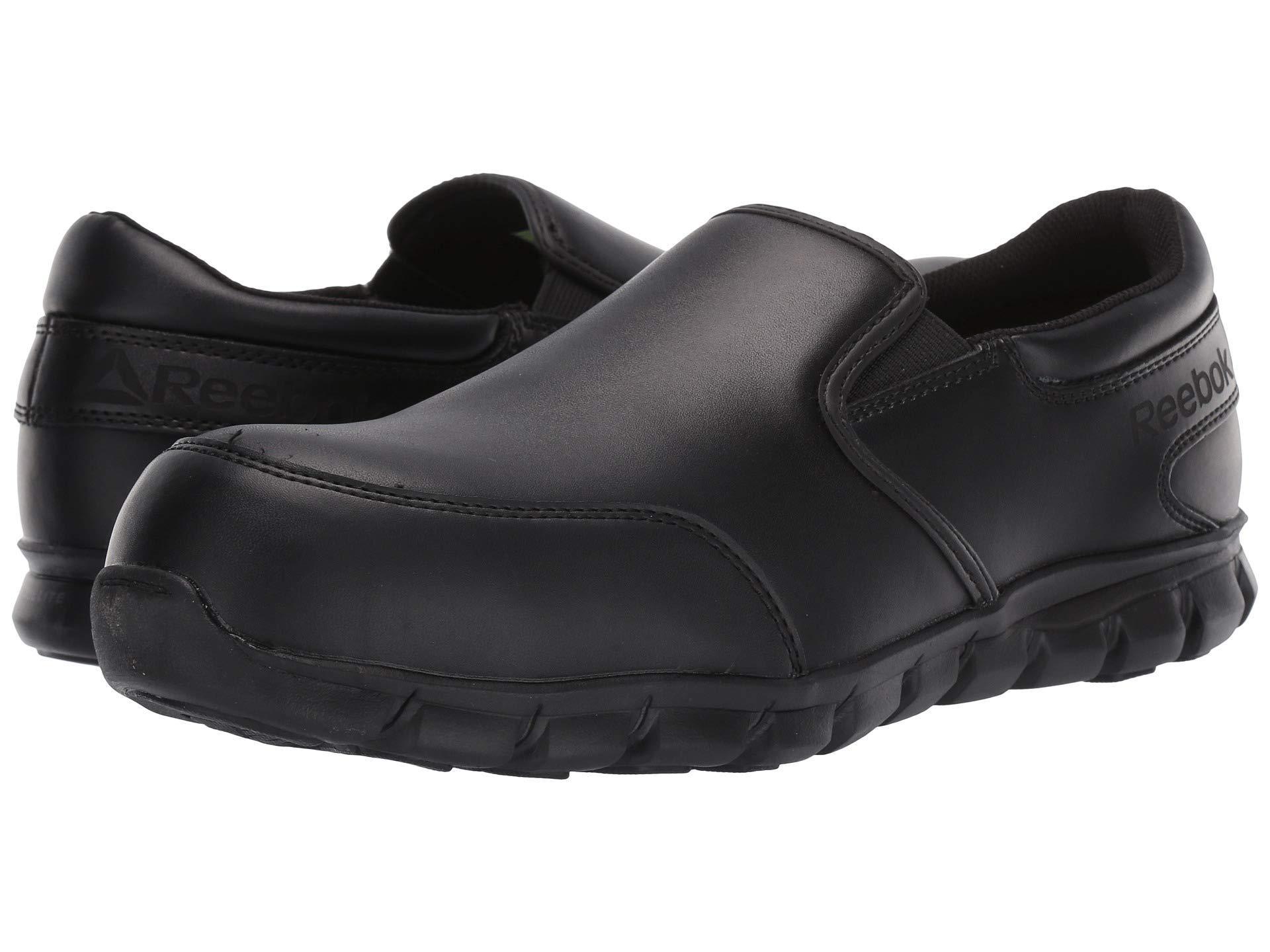 Reebok. Sublite Cushion Work Comp Toe Esd Slip On (black) Men s Work Boots 0ea2f8500