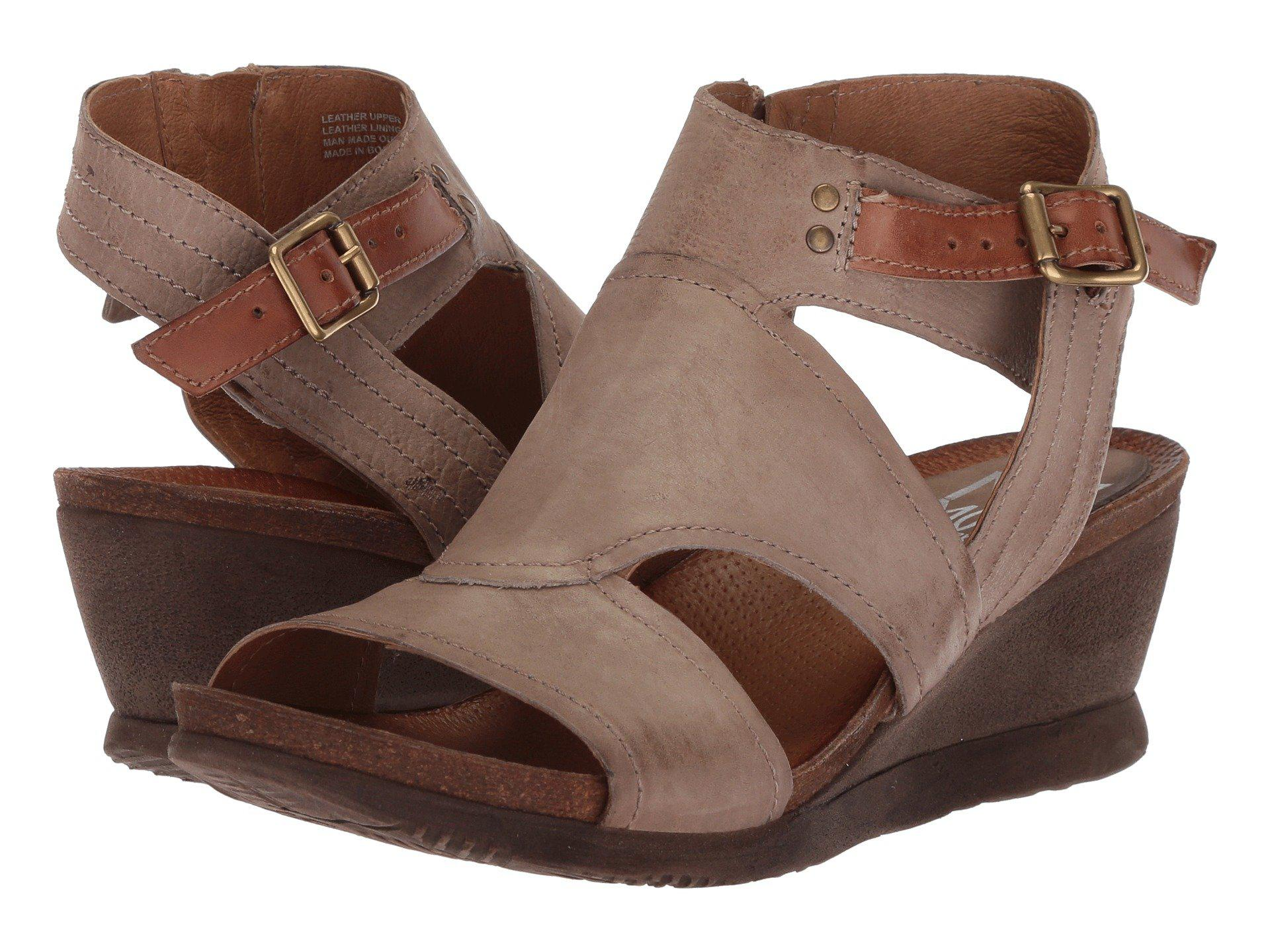 d7a5fb53cd0 Lyst - Miz Mooz Scout (sky) Women s Wedge Shoes in Brown