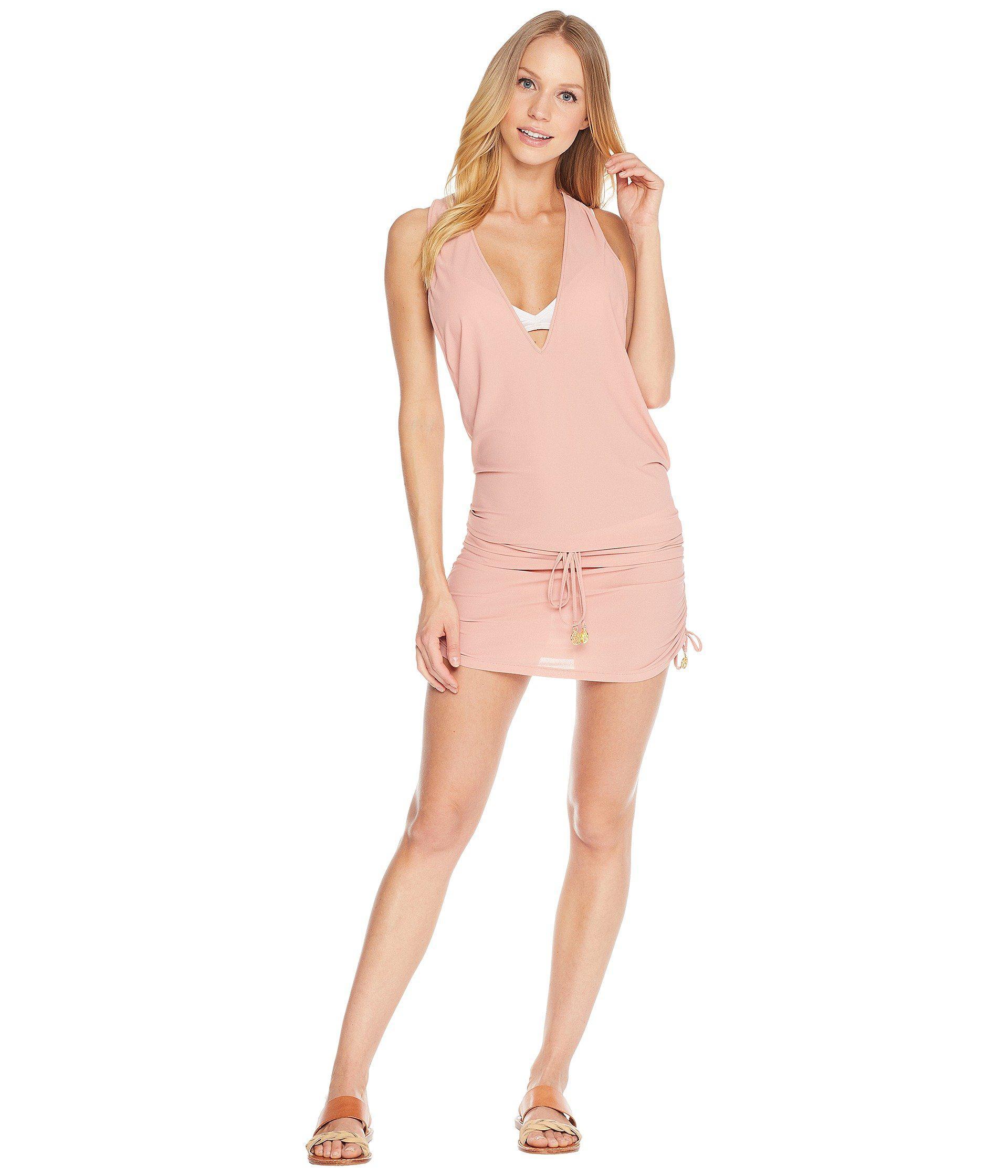 e1d88b013c2 Lyst - Luli Fama Cosita Buena T-back Mini Dress Cover-up (black ...