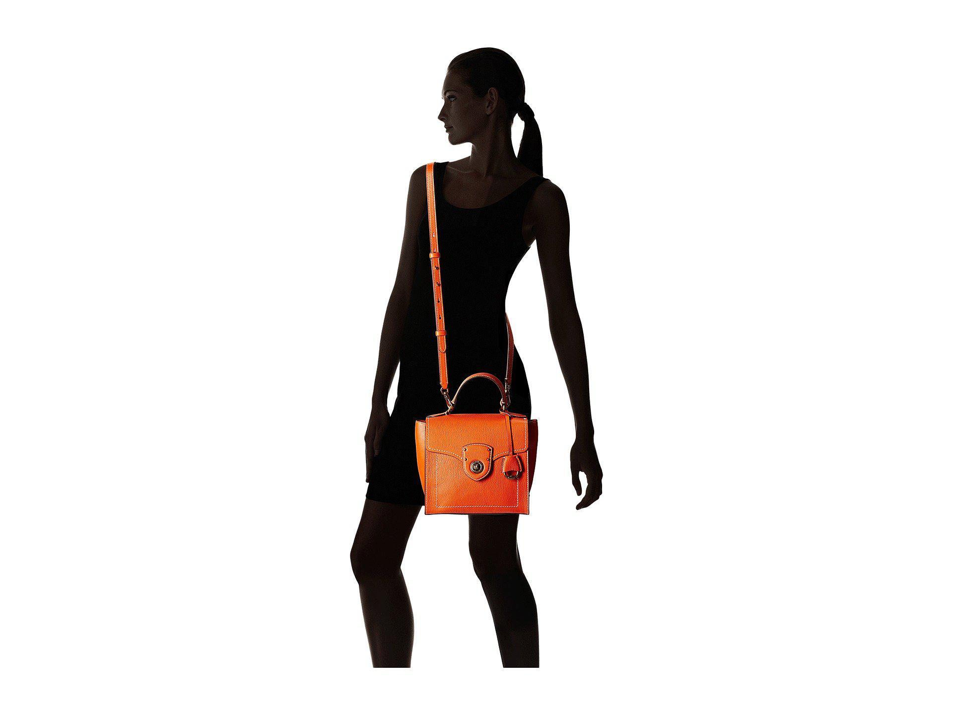 world-wide free shipping highly coveted range of sleek Lauren by Ralph Lauren Red Millbrook Top Handle Crossbody Satchel (leopard)  Handbags