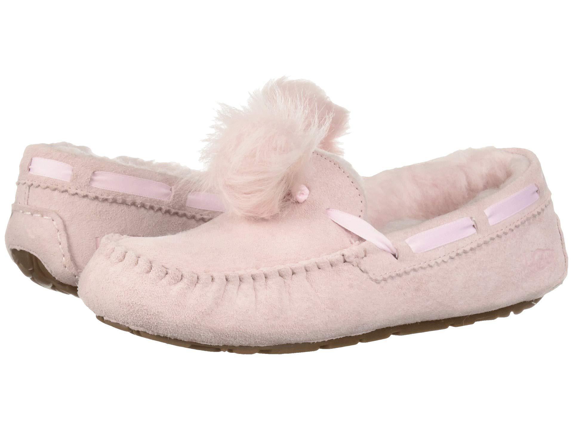 f34cbd8656f Ugg Pink Dakota Pom Pom (chestnut) Women's Flat Shoes