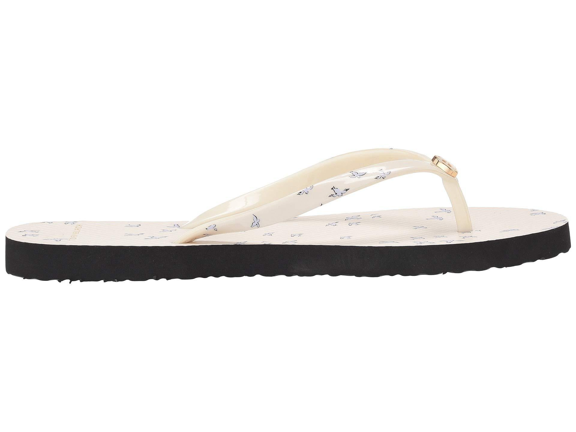6bfa12e81 Lyst - Tory Burch Printed Thin Flip-flop (mint Early Bird) Women s Sandals  in White