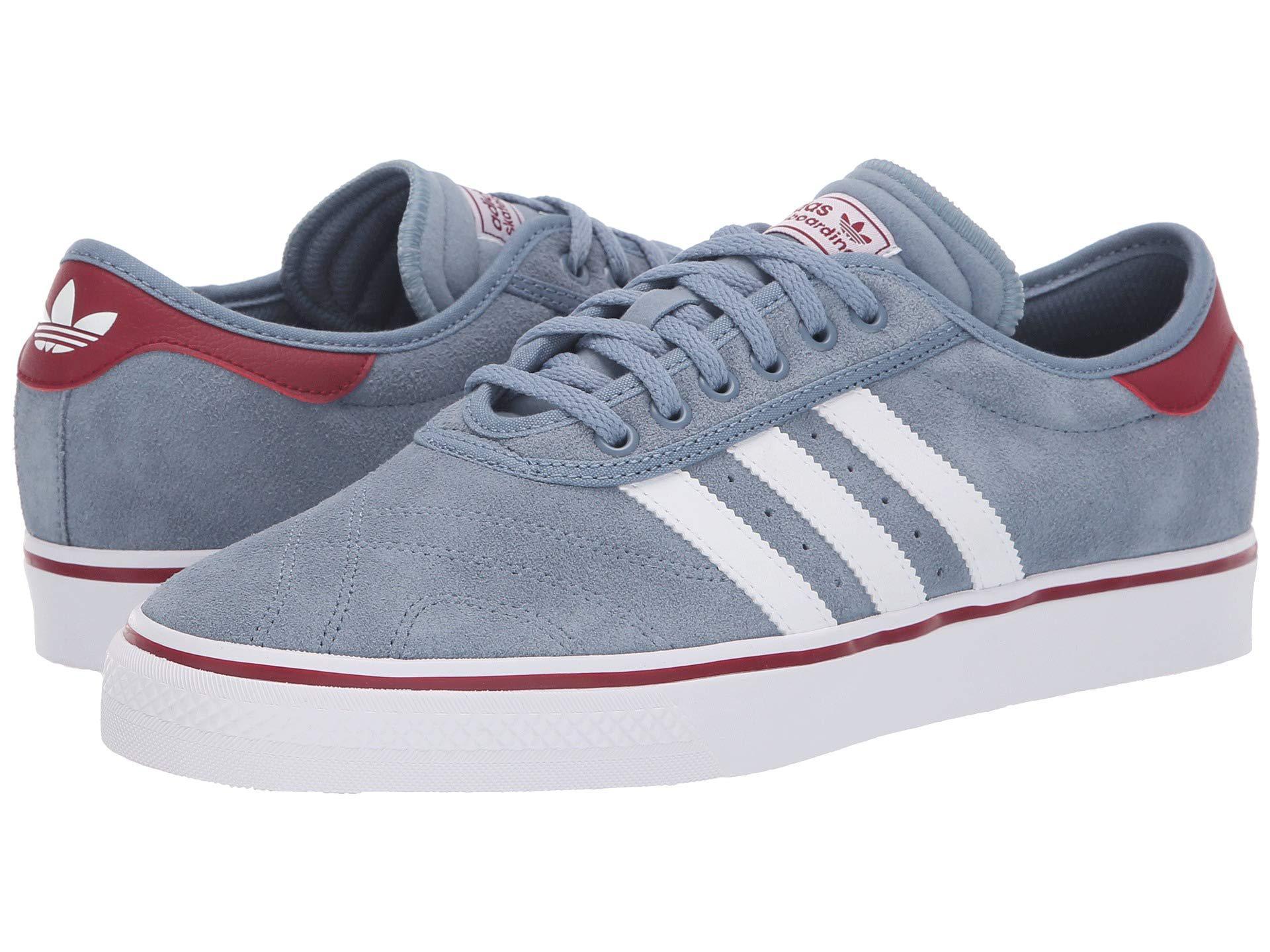 c804cb3524e3 adidas Originals. Gray Adi-ease Premiere (raw Steel white collegiate  Burgundy) Men s Skate Shoes