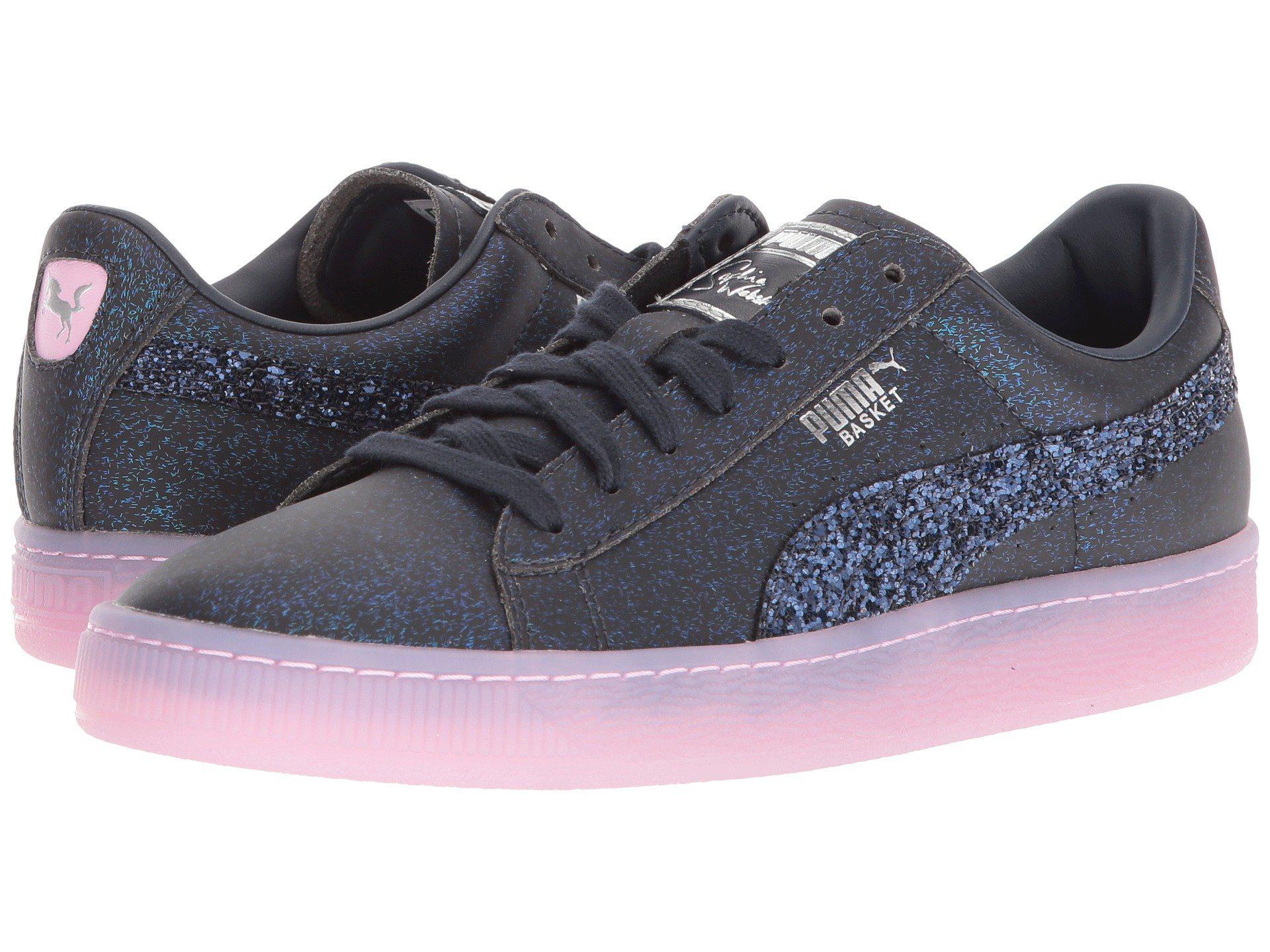 PUMA. Women's X Sophia Webster Basket Glitter Princess Sneaker