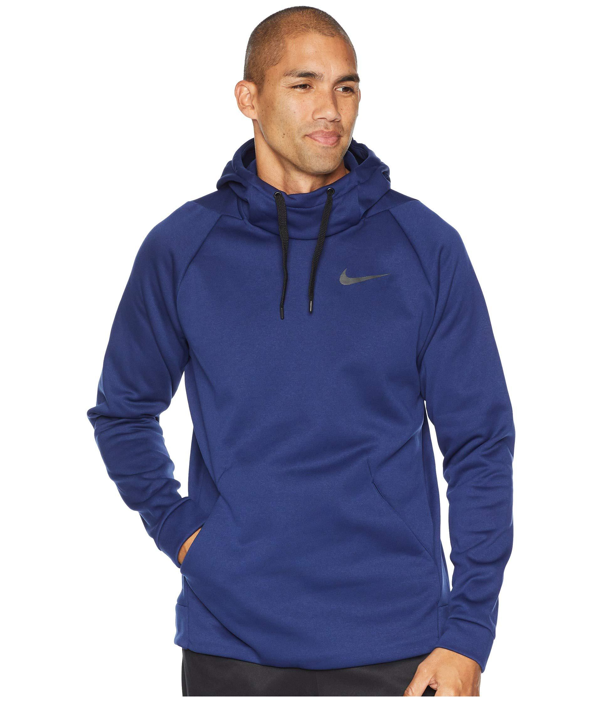 c22e5590c580 Lyst - Nike Thermal Hoodie Pullover in Blue for Men